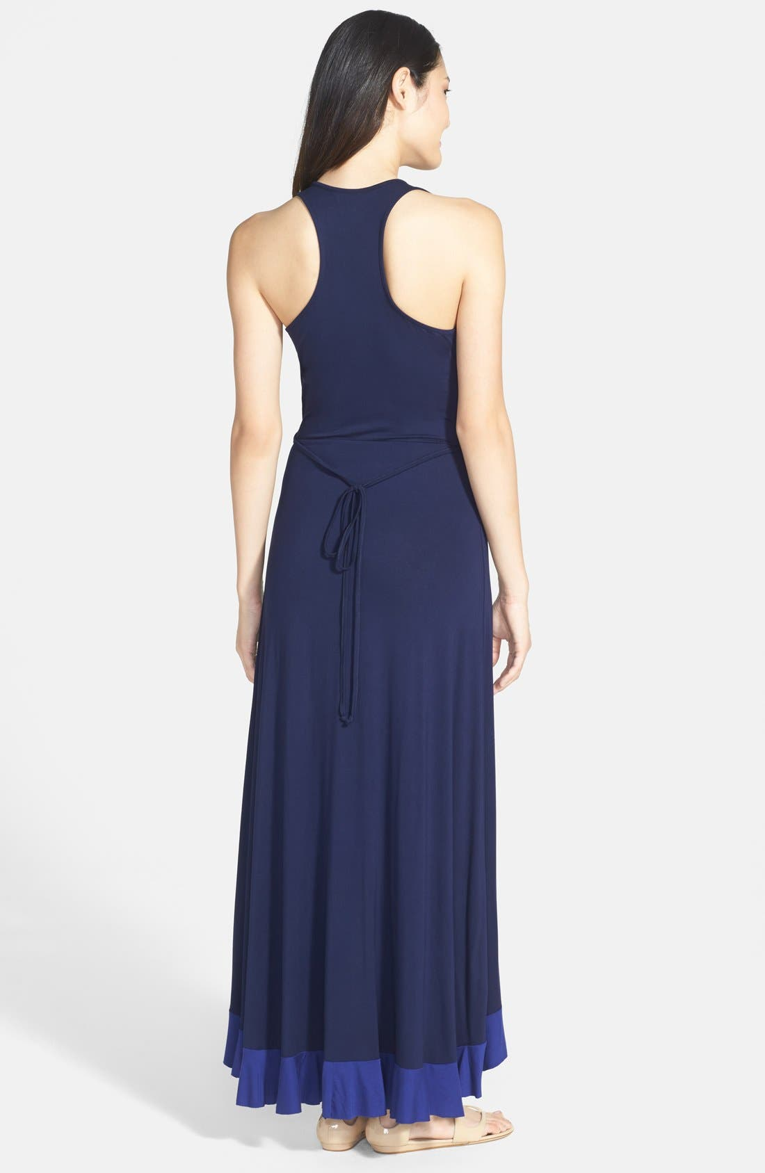 Alternate Image 2  - Felicity & Coco Ruffled Faux Wrap Maxi Dress (Nordstrom Exclusive)