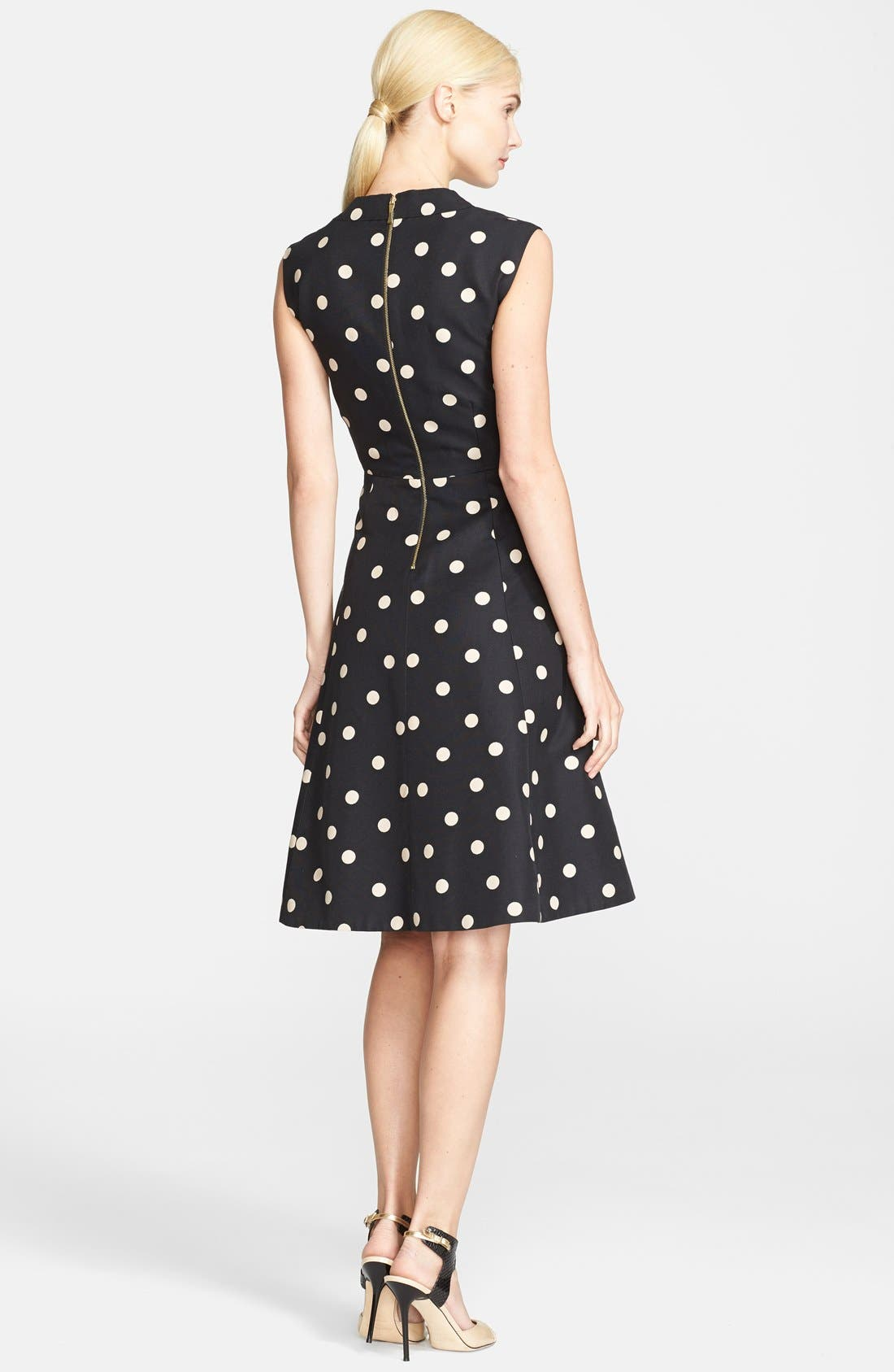 Alternate Image 2  - kate spade new york 'deco dot' fit & flare dress