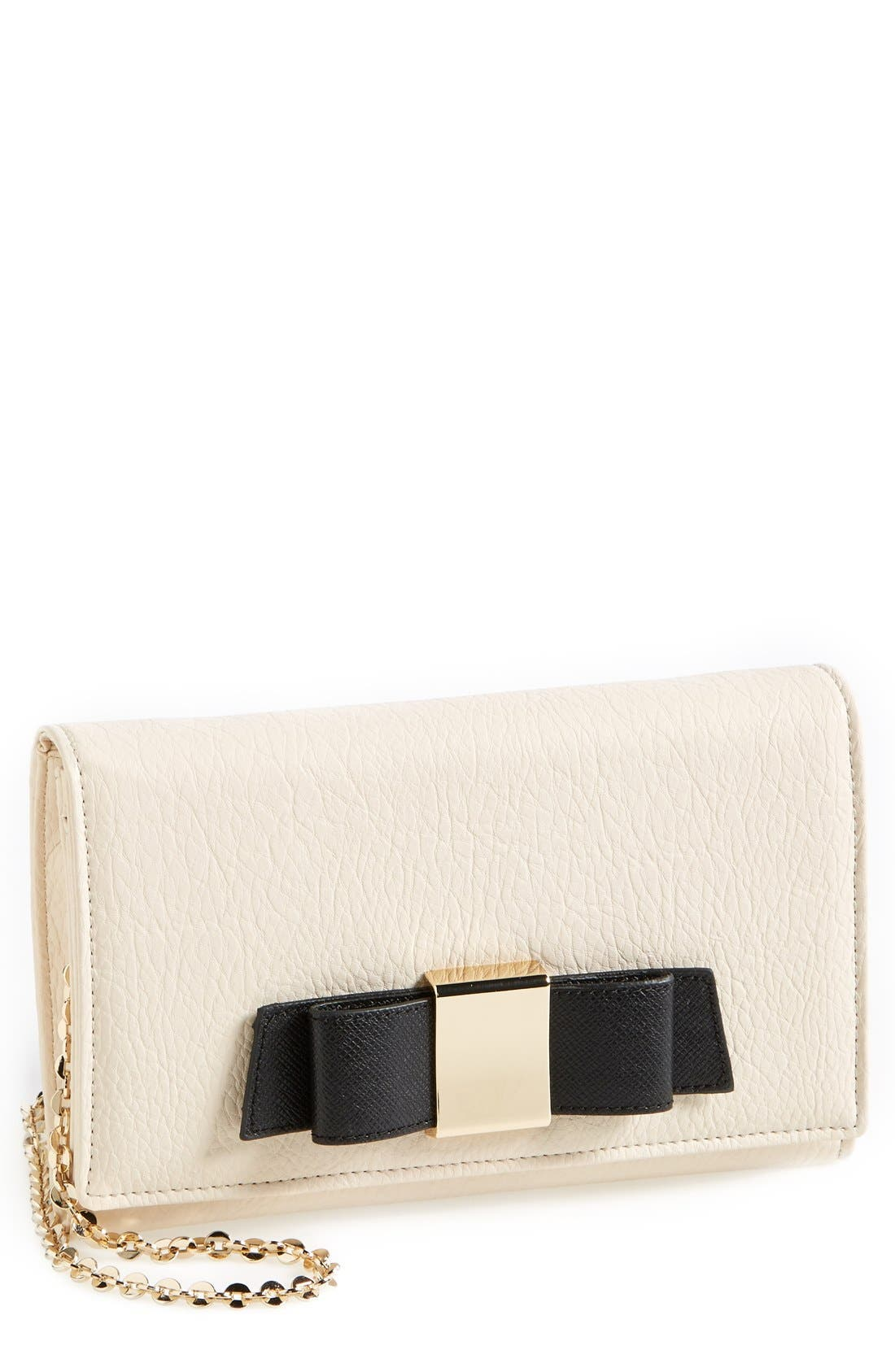 Main Image - Ivanka Trump 'Blair' Faux Leather Bow Clutch