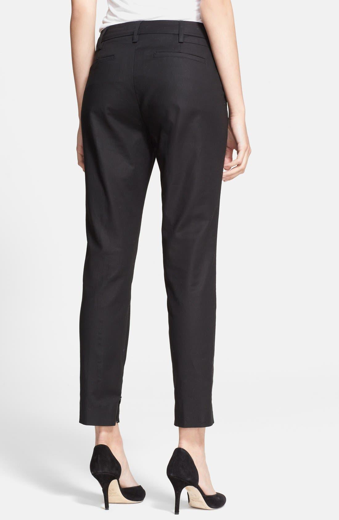 Alternate Image 2  - Vince Crop Slim Leg Trousers