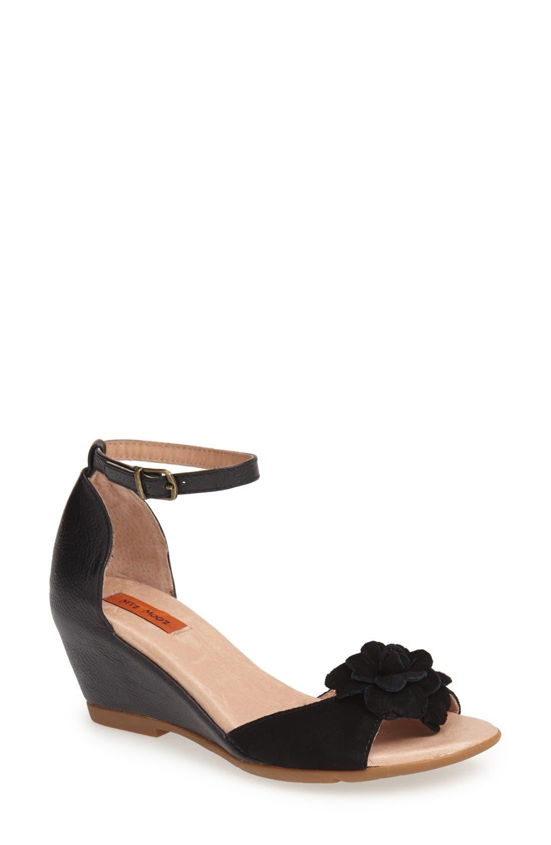 Alternate Image 1 Selected - Miz Mooz 'Carmen' Leather Wedge Sandal (Women)(Special Purchase)