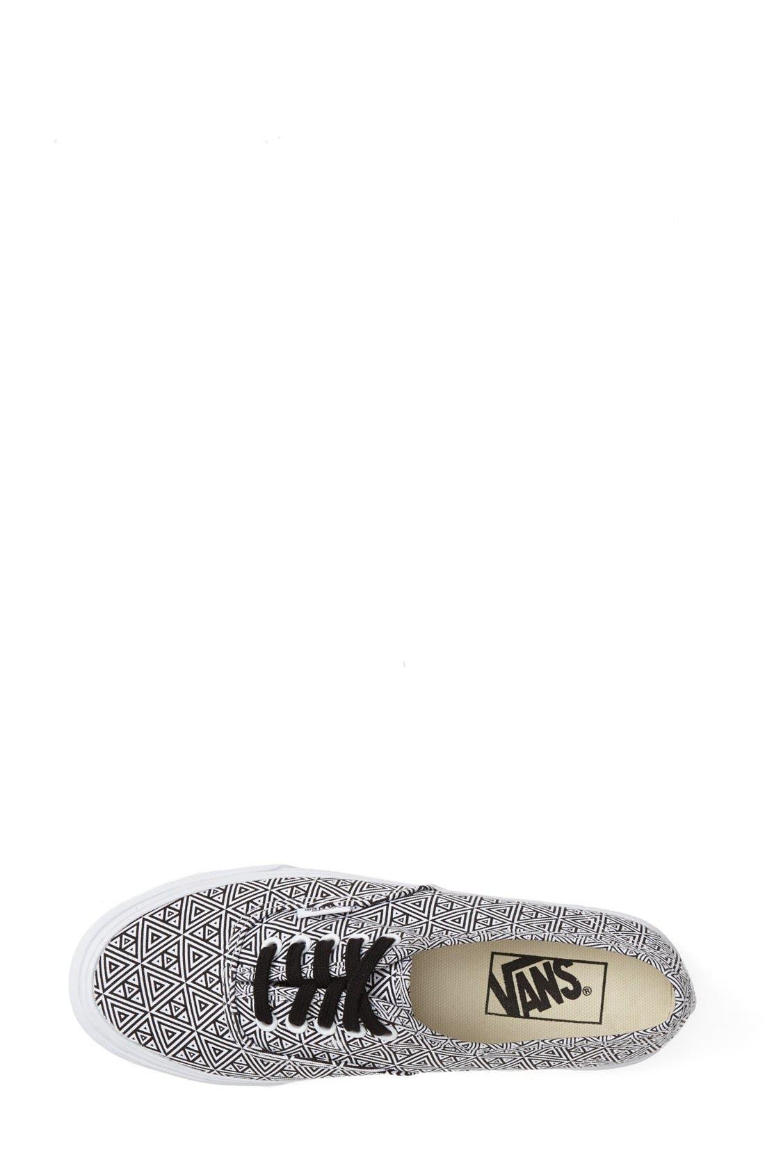 Alternate Image 3  - Vans 'Authentic Slim' Geo Print Sneaker (Women)