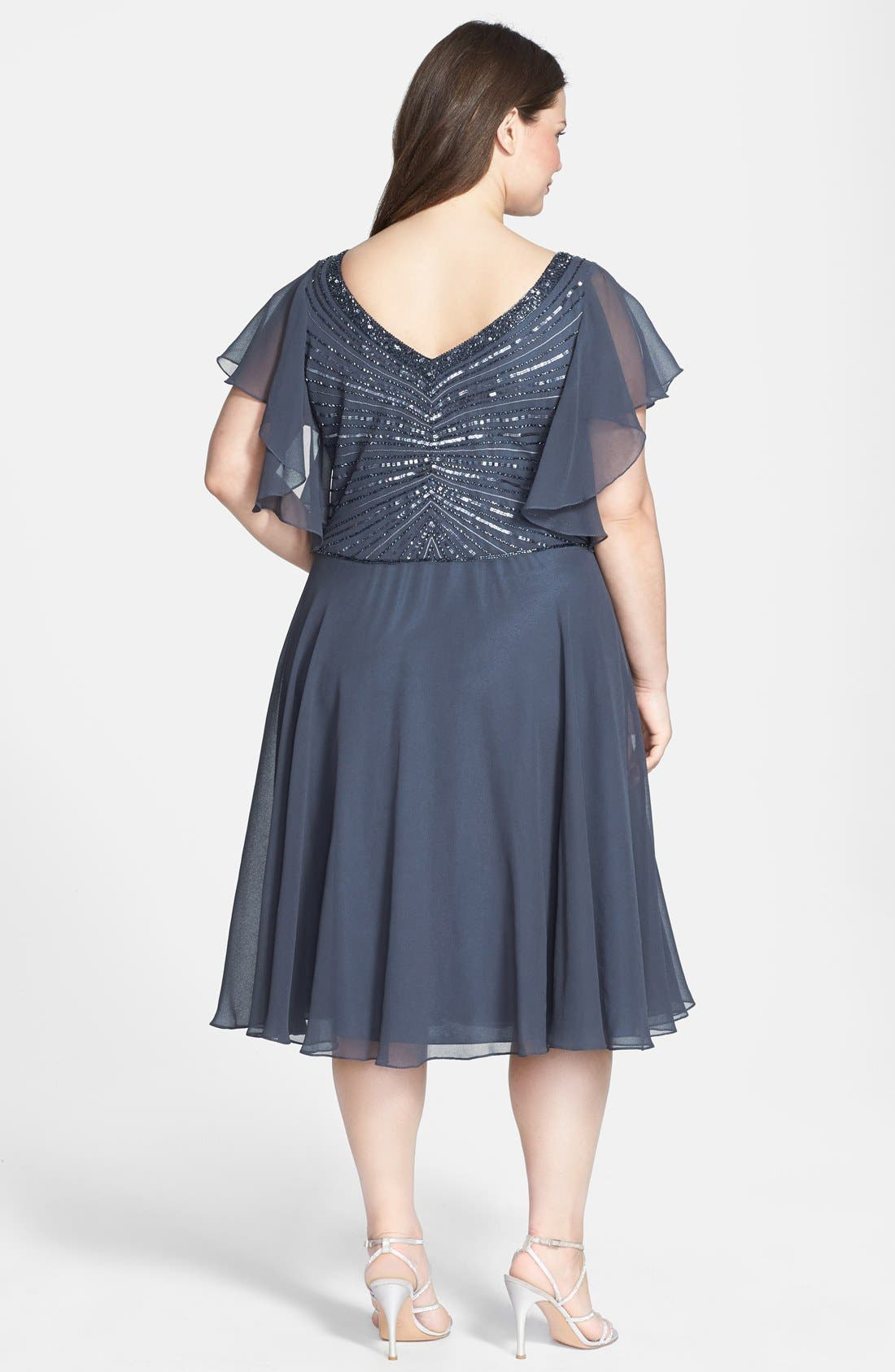 Alternate Image 2  - J Kara Beaded Dress (Plus Size)