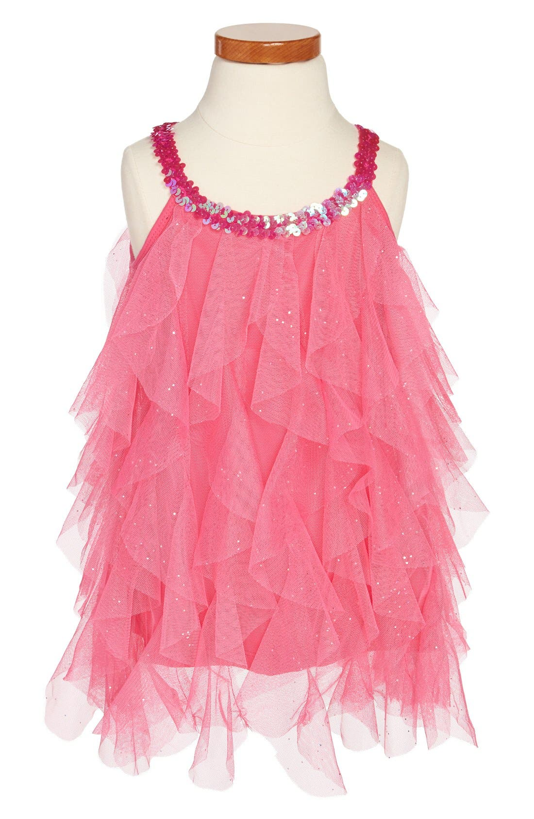 Main Image - Popatu 'Wave' Sequin Dress (Toddler Girls)