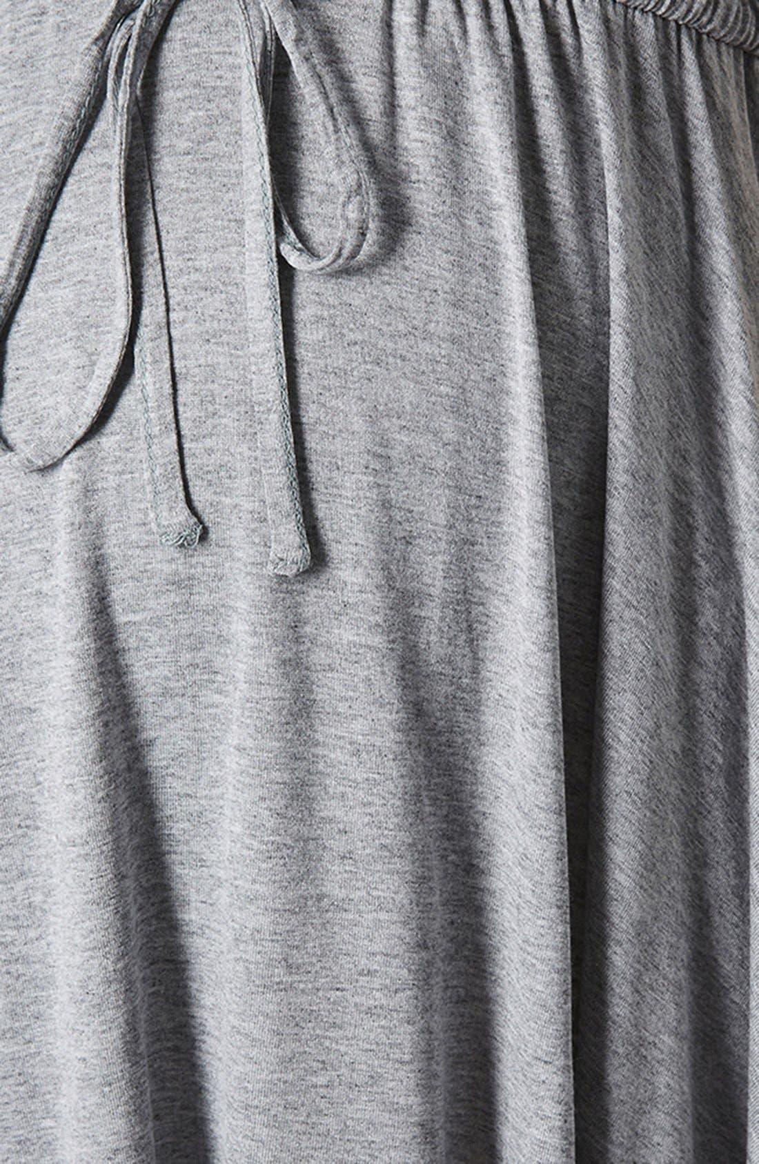 Alternate Image 4  - Topshop Drawstring Waist Jersey Maternity Dress