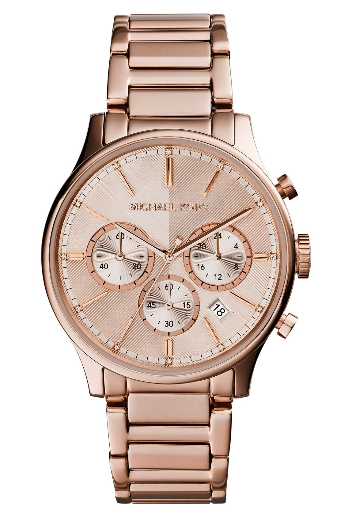 Main Image - Michael Kors 'Bailey' Chronograph Bracelet Watch, 39mm (Nordstrom Exclusive)