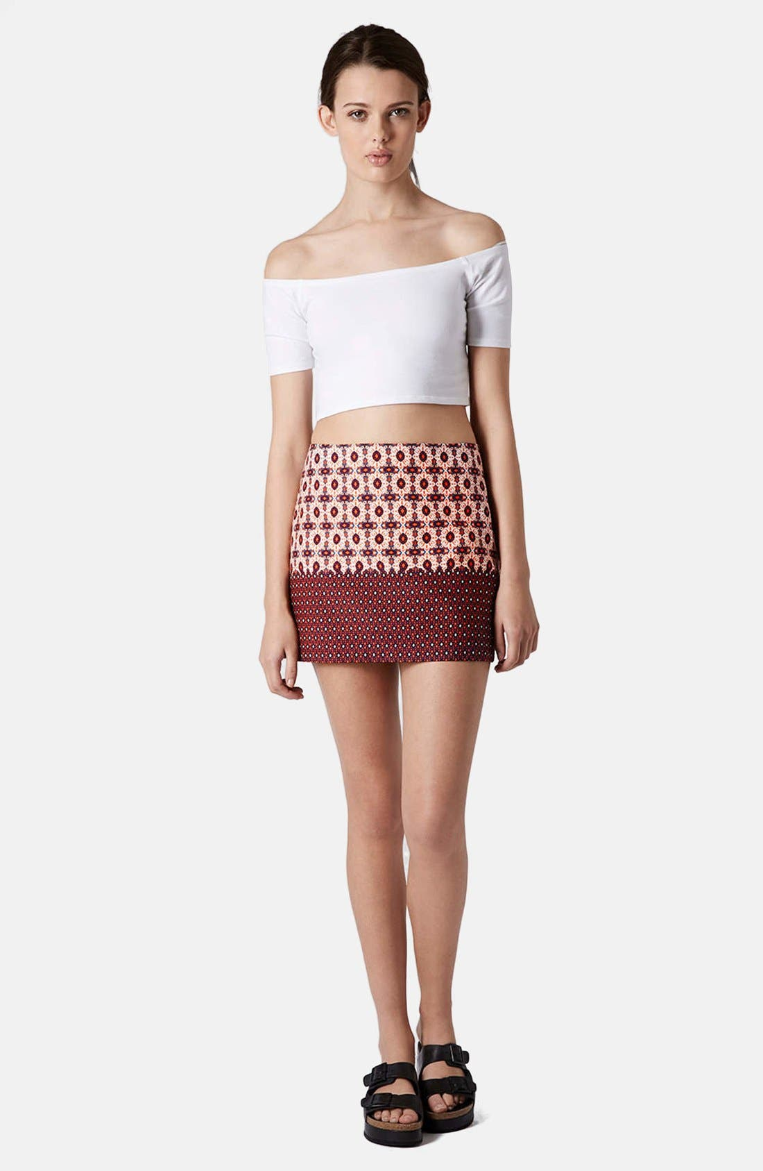 Alternate Image 4  - Topshop Mixed Tile Print Pelmet Skirt