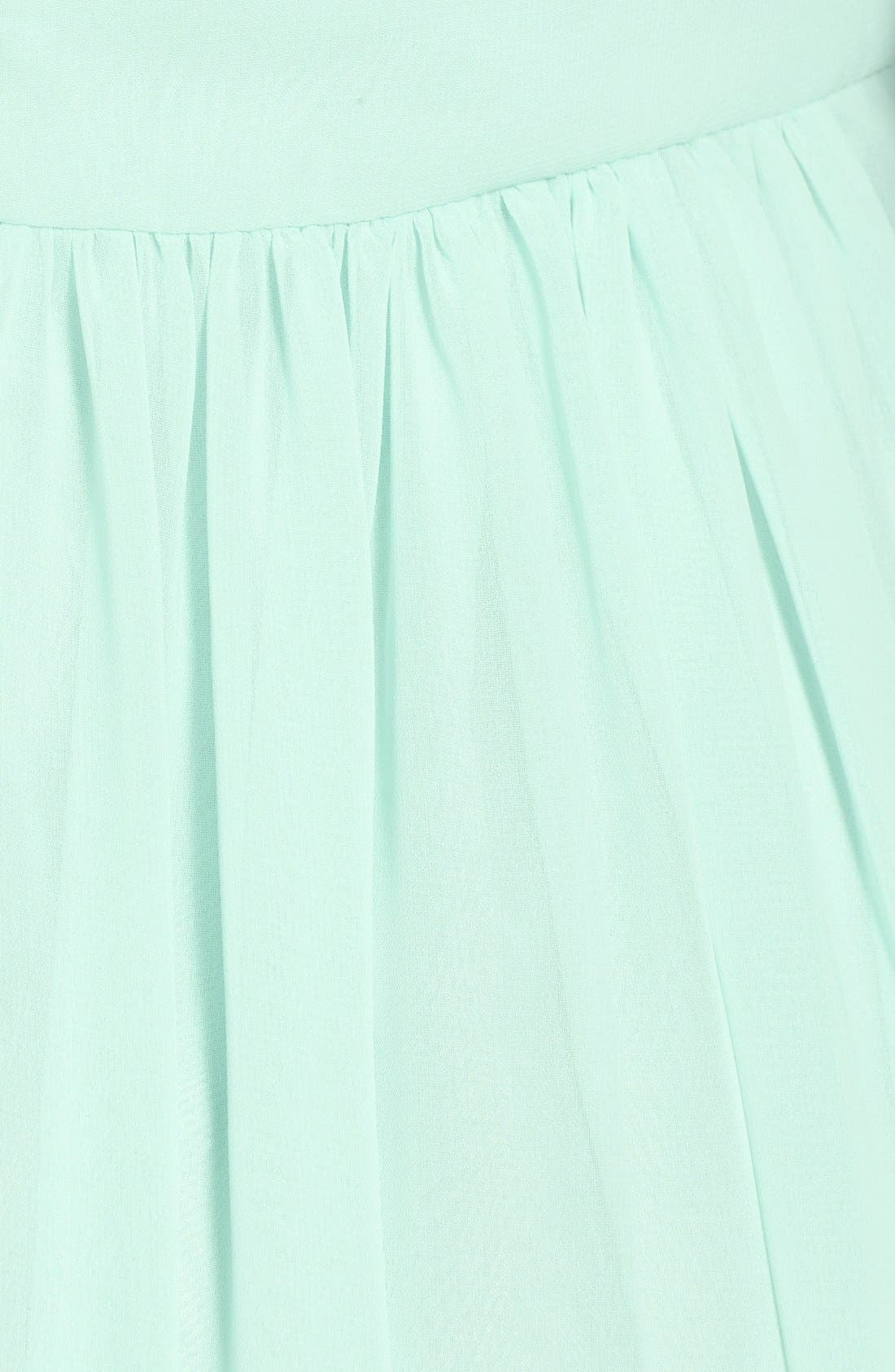Alternate Image 3  - Monique Lhuillier Bridesmaids Crisscross Chiffon Gown (Nordstrom Exclusive)