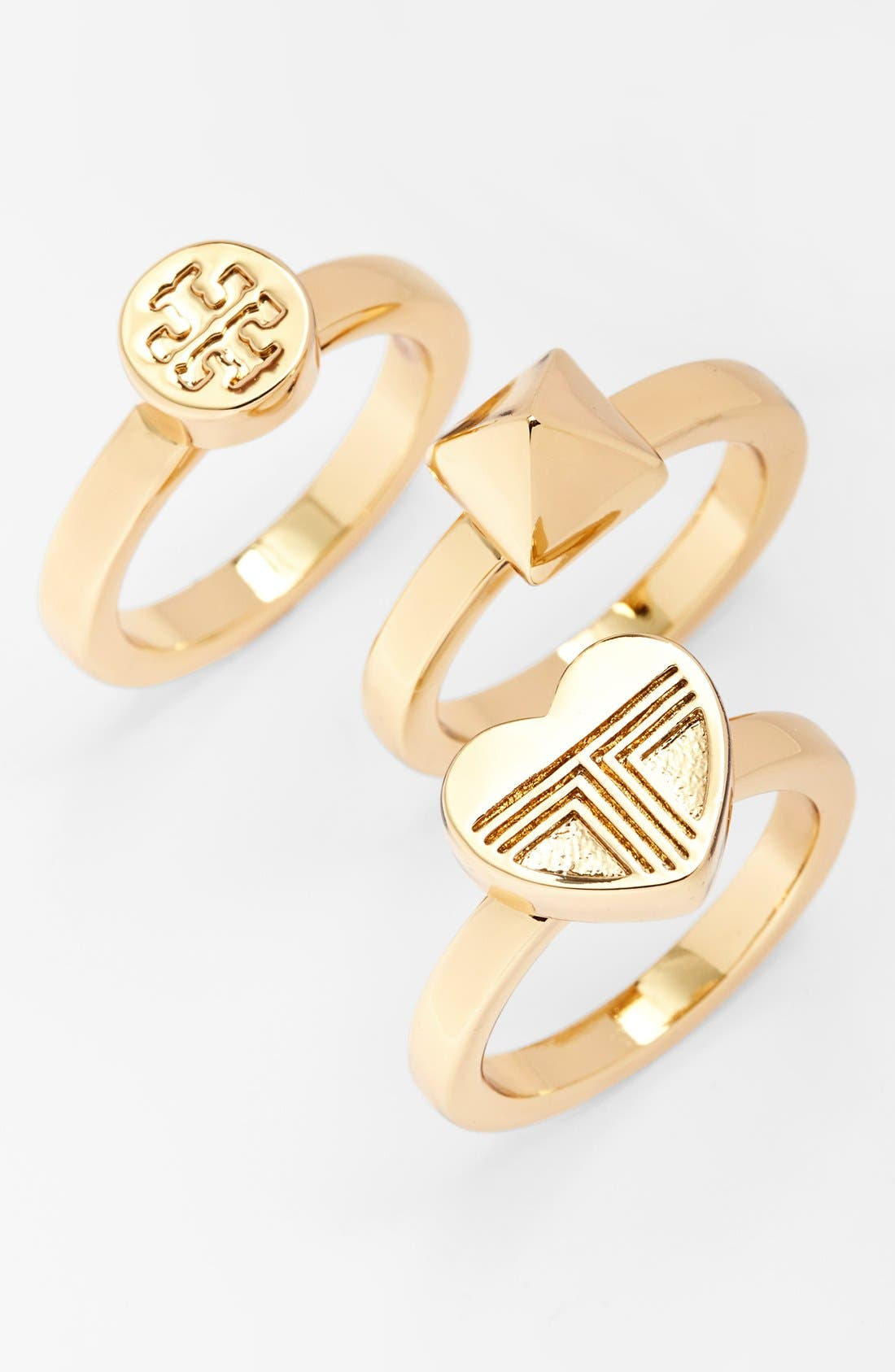 Main Image - Tory Burch 'Adeline' Stackable Rings (Set of 3)