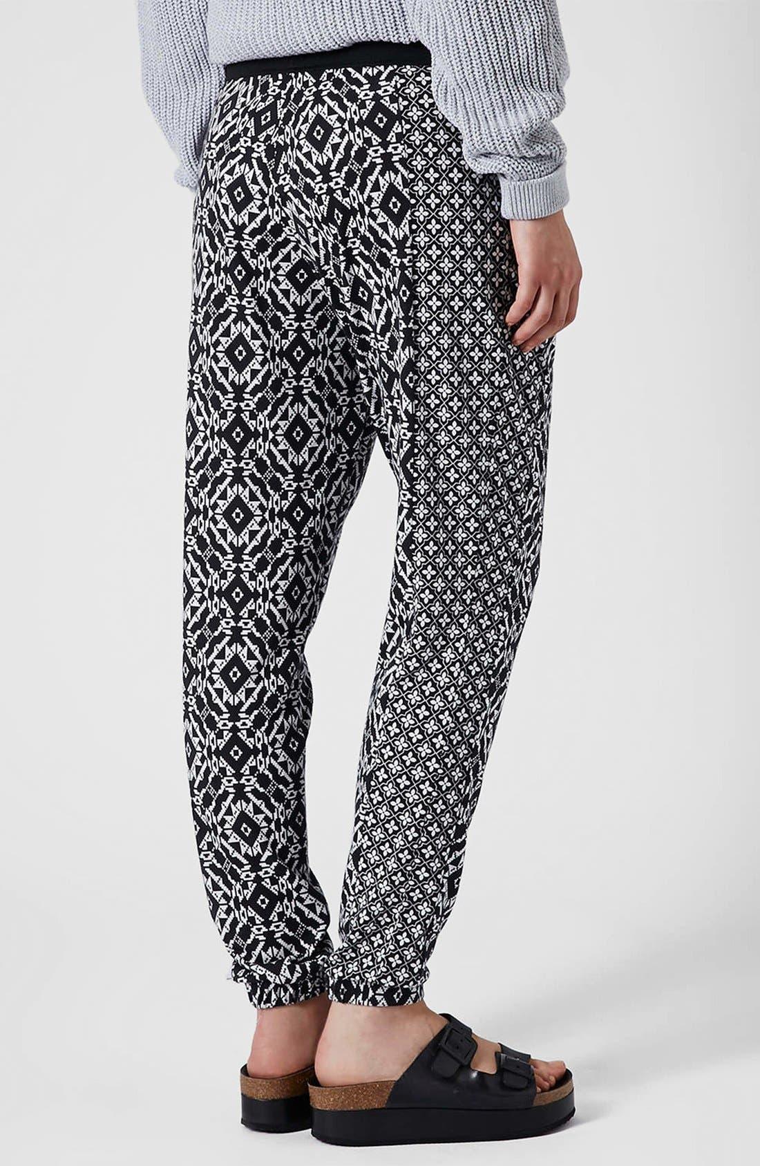 Alternate Image 2  - Topshop Mixed Print Tapered Pants (Regular & Petite)
