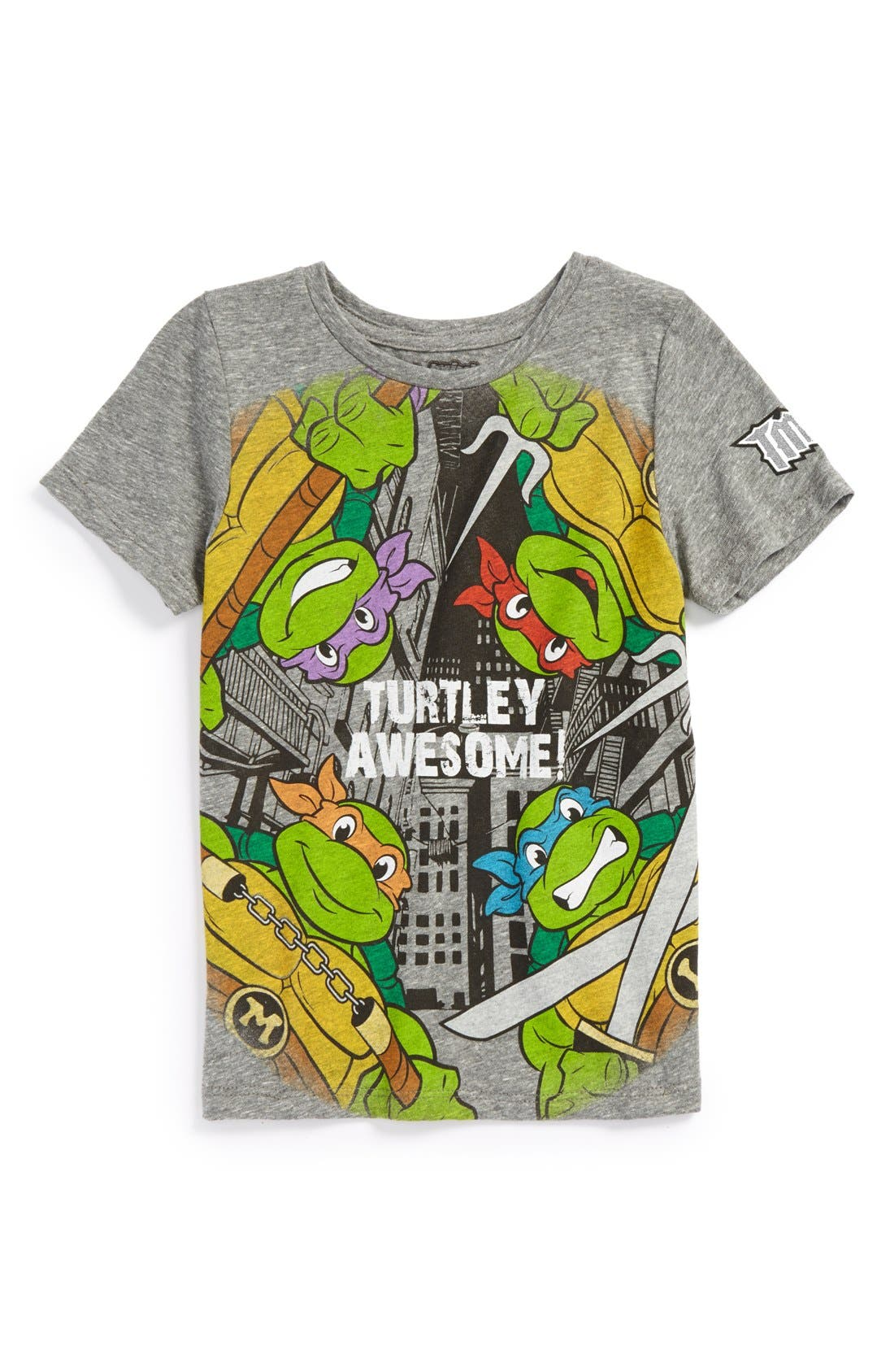 Main Image - Mighty Fine 'Turtley Awesome' Graphic T-Shirt (Little Boys)