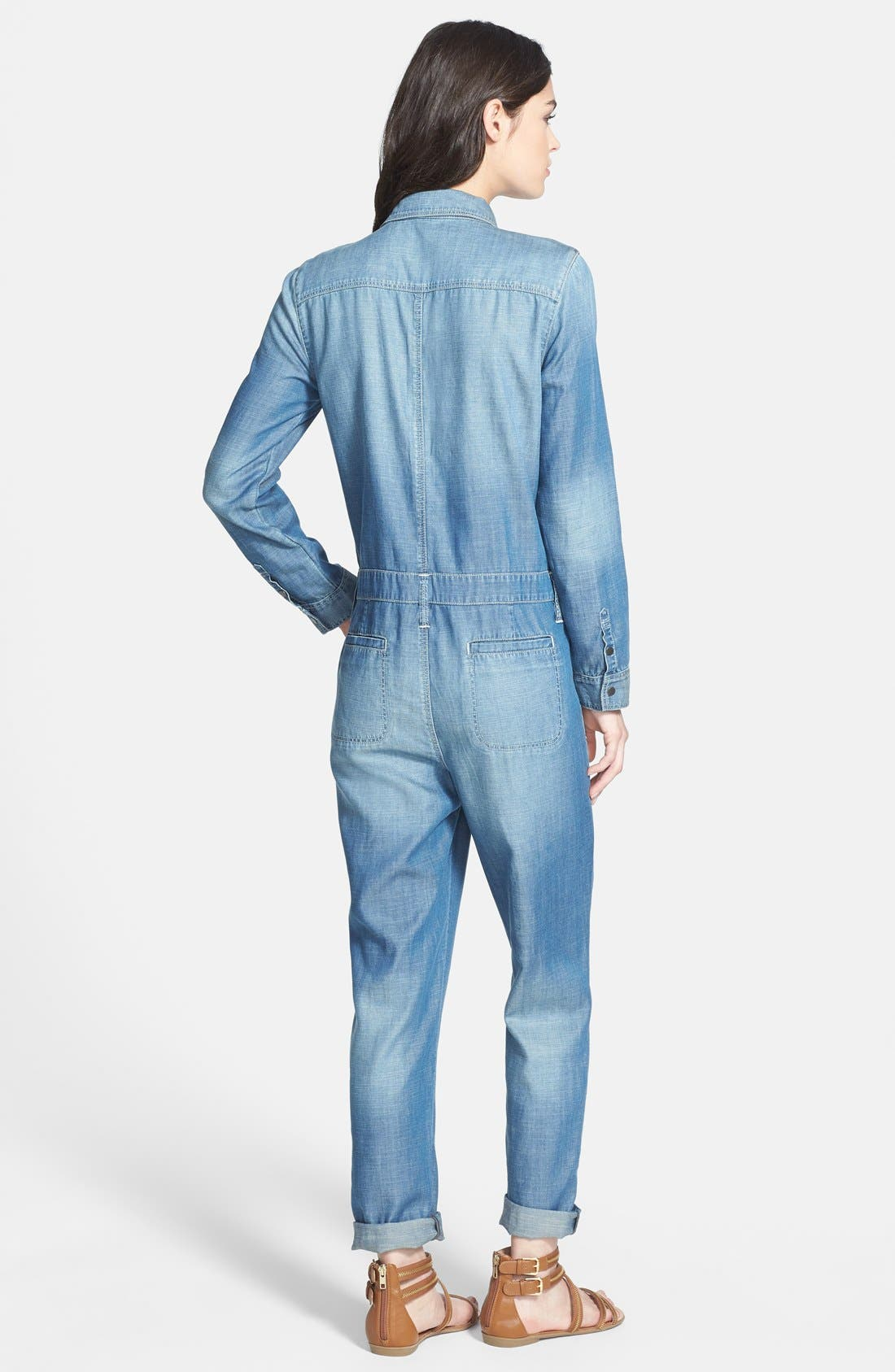 Alternate Image 2  - Treasure&Bond 'Boiler' Jumpsuit (Medium Wash)