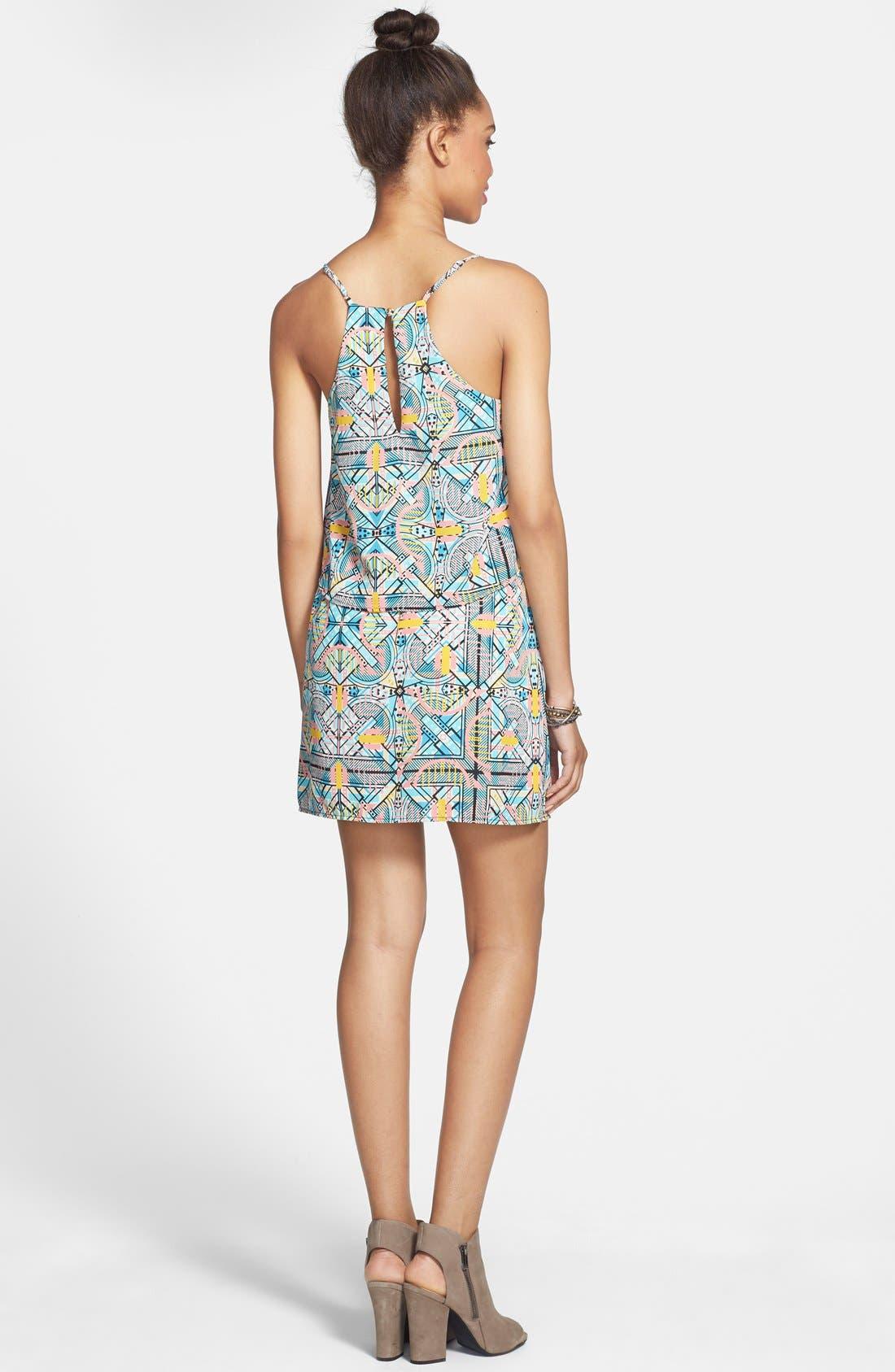 Alternate Image 2  - Everly Print Popover Dress (Juniors)