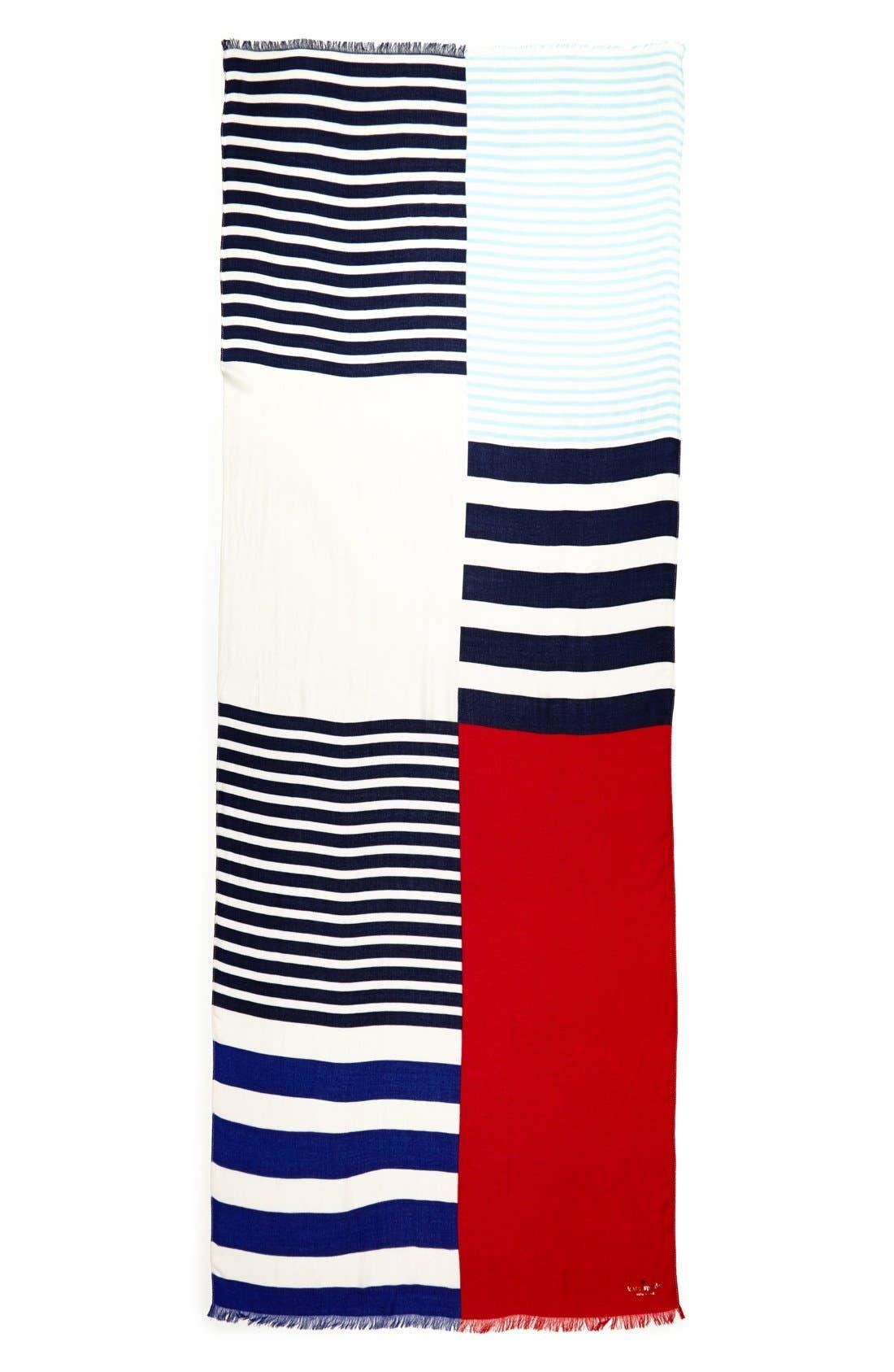 Alternate Image 2  - kate spade new york 'monaco stripe' scarf
