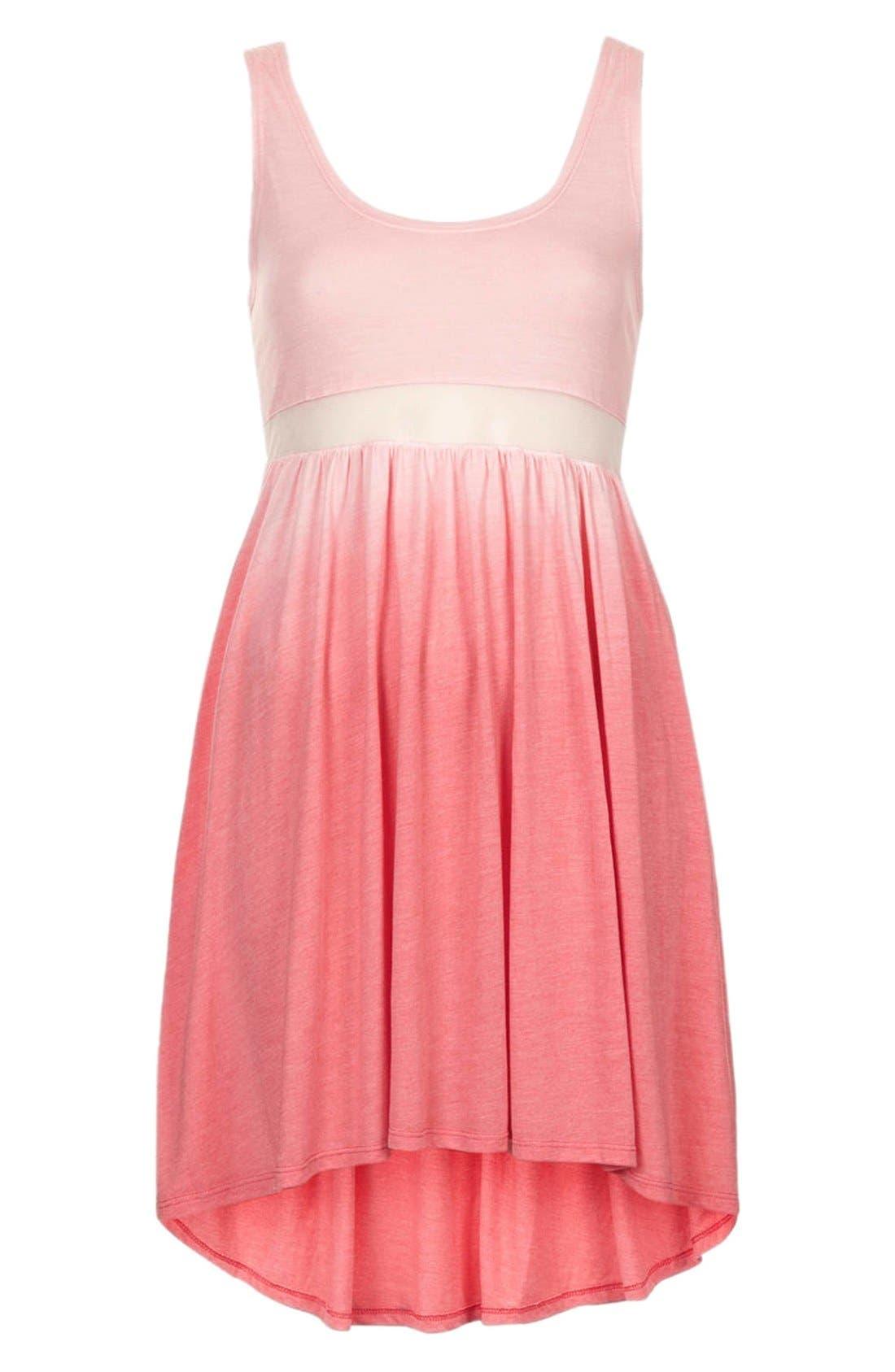 Alternate Image 3  - Topshop Mesh Inset Ombré Dress