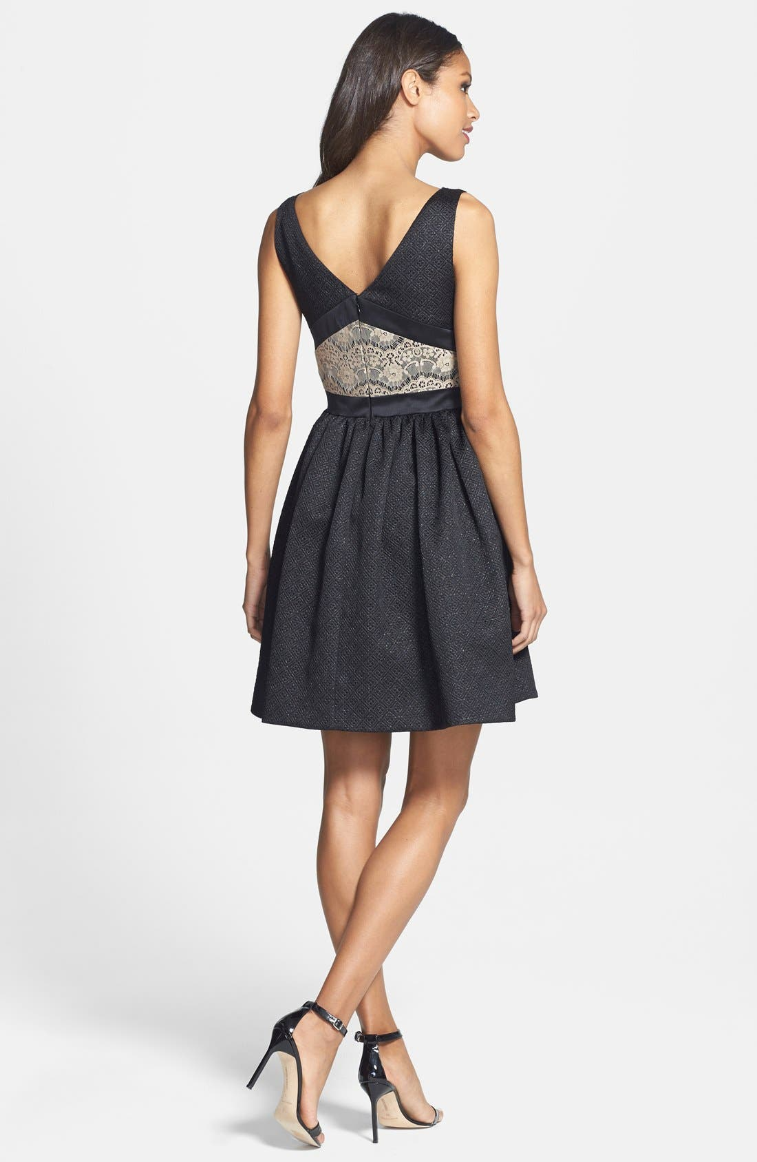 Alternate Image 2  - ERIN erin fetherston Bow Detail Jacquard Fit & Flare Dress