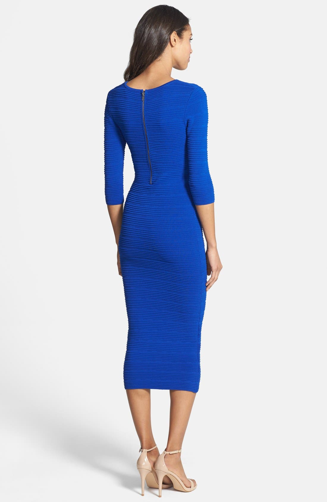 Alternate Image 2  - Felicity & Coco Knit Body-Con Midi Dress (Petite) (Nordstrom Exclusive)