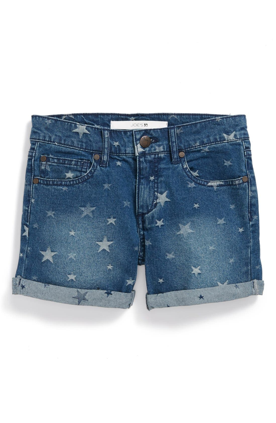 Alternate Image 2  - Joe's Star Pattern Rolled Cuff Shorts (Little Girls)