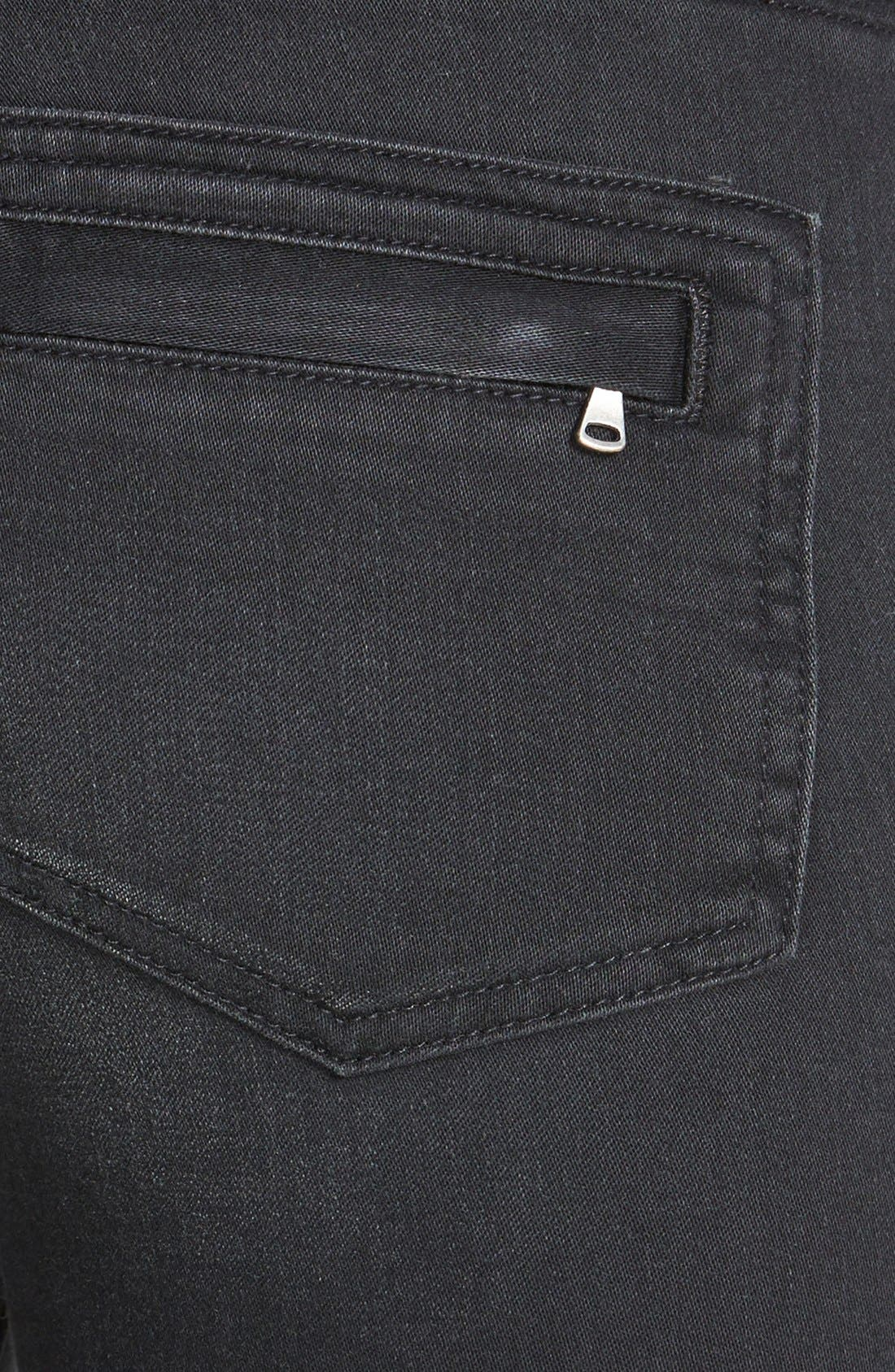 Alternate Image 3  - Paige Denim 'Harlem' Leather Detail Ultra Skinny Jeans (Moscow No Whiskers)