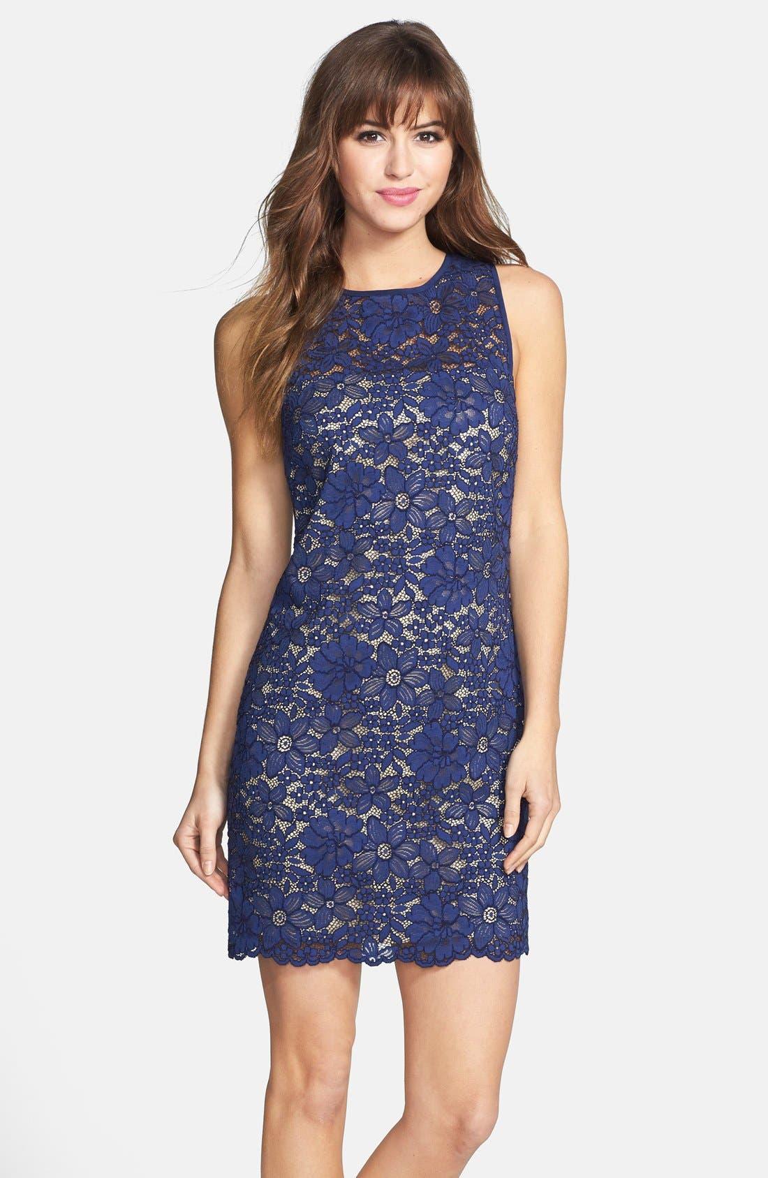 Alternate Image 1 Selected - Trina Turk 'Bissitti' Lace Sheath Dress