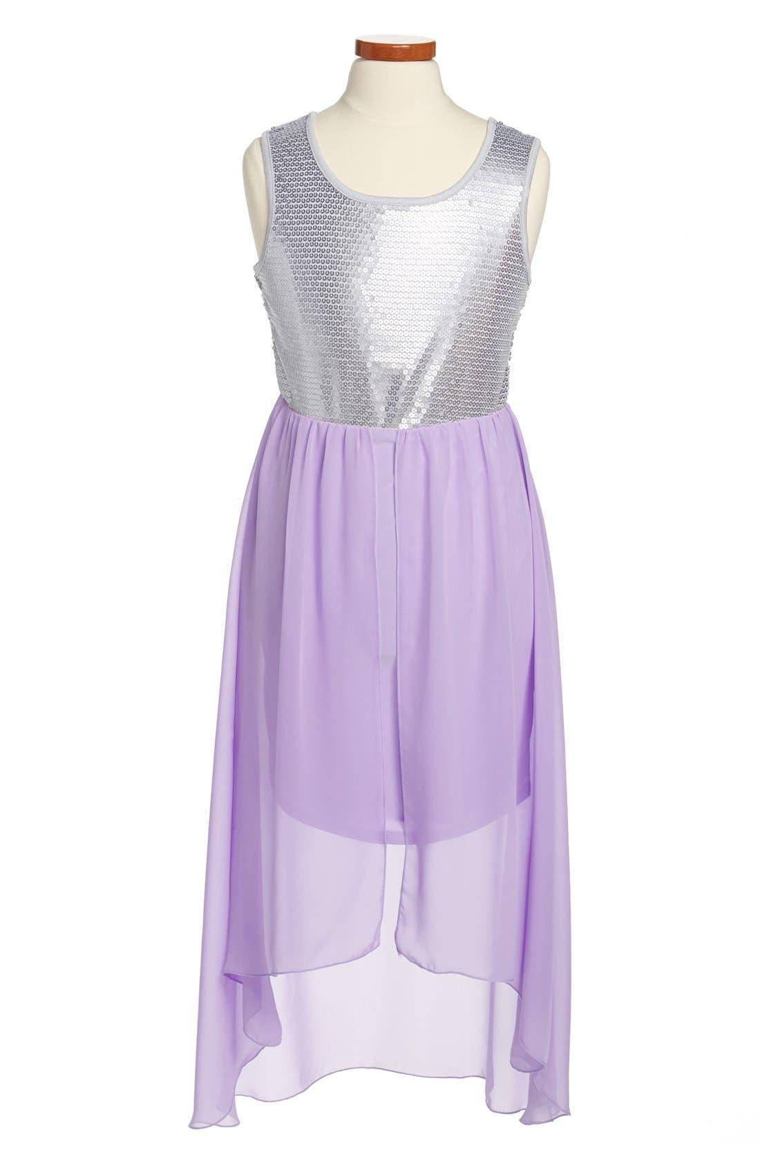 Main Image - Roxette High/Low Dress (Big Girls)