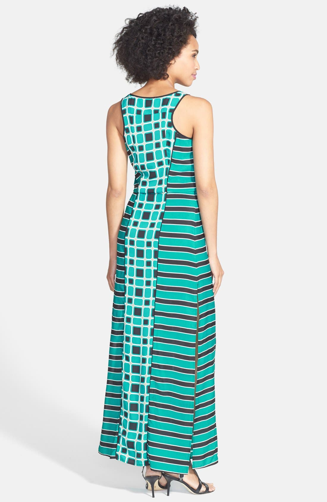 Alternate Image 2  - MICHAEL Michael Kors 'Soho Square' Drawstring Maxi Dress (Regular & Petite)