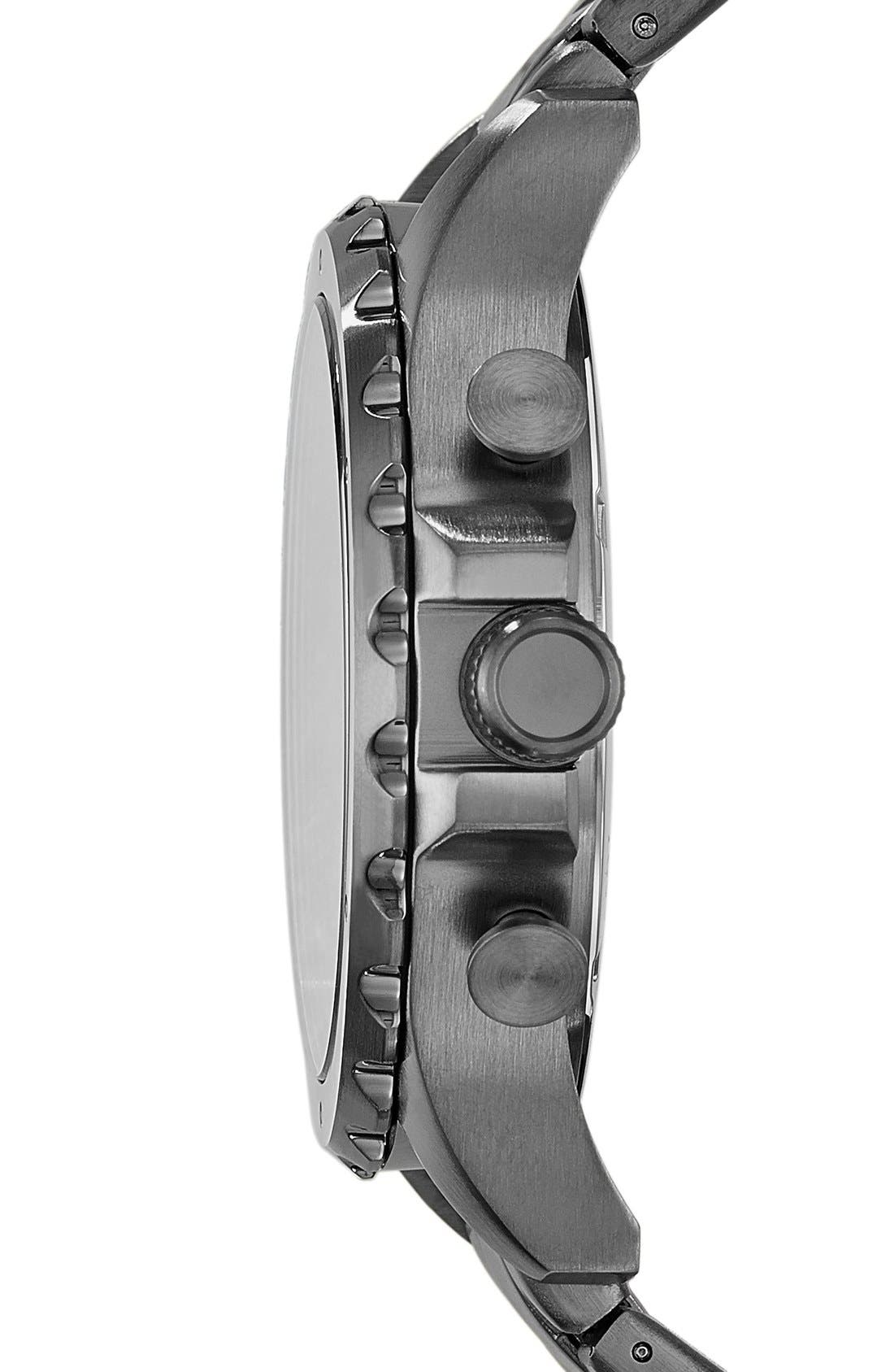 Alternate Image 3  - Fossil 'Nate' Chronograph Bracelet Watch, 46mm