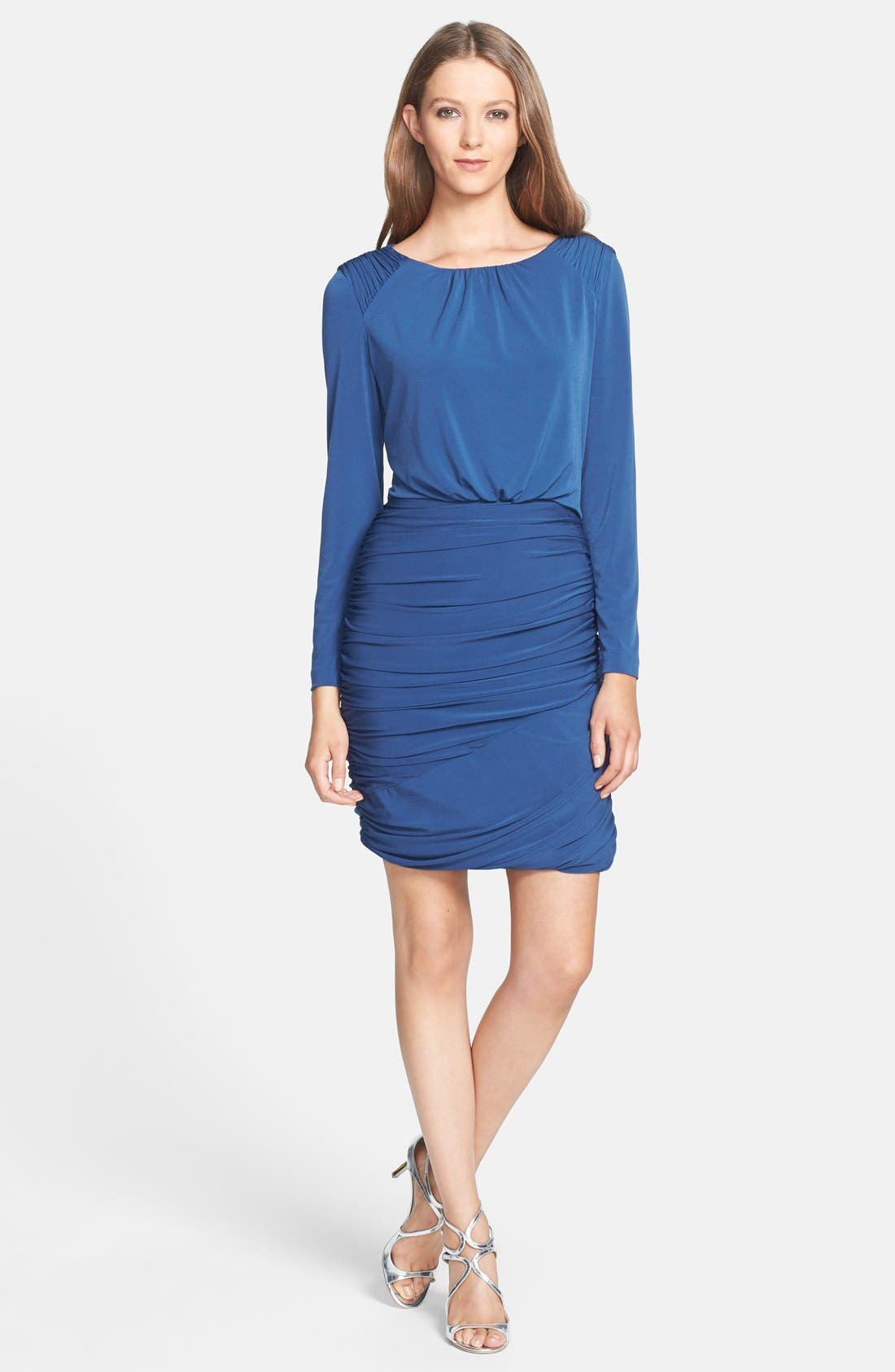 Alternate Image 3  - Ivy & Blu Ruched Jersey Blouson Dress