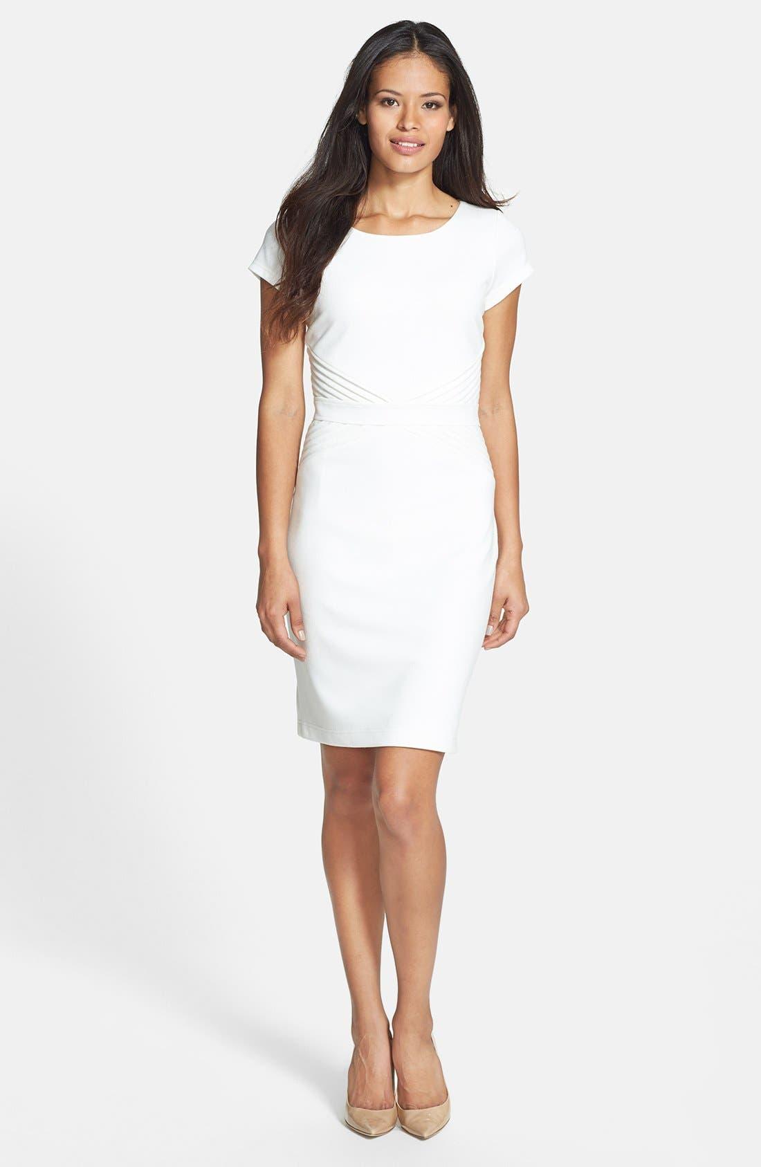 Alternate Image 1 Selected - Ellen Tracy Ponte Knit Sheath Dress