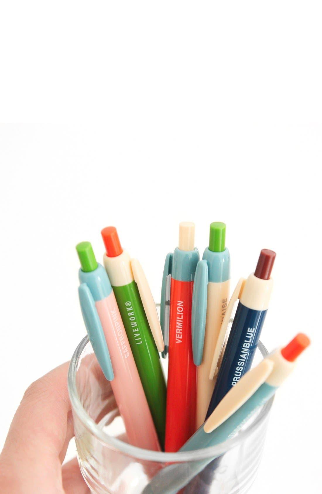 Alternate Image 3  - Poketo 'Color Block' Medium Tip Retractable Ballpoint Pens (Set of 3)