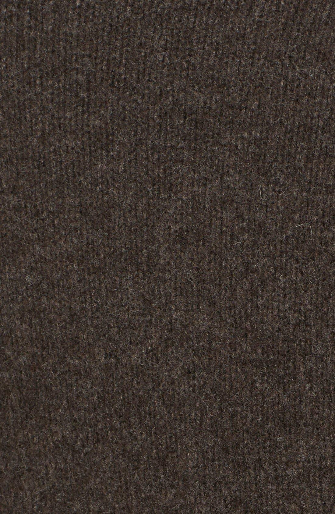Alternate Image 3  - Eileen Fisher Leather Sleeve Merino Lambswool Jacket (Regular & Petite)