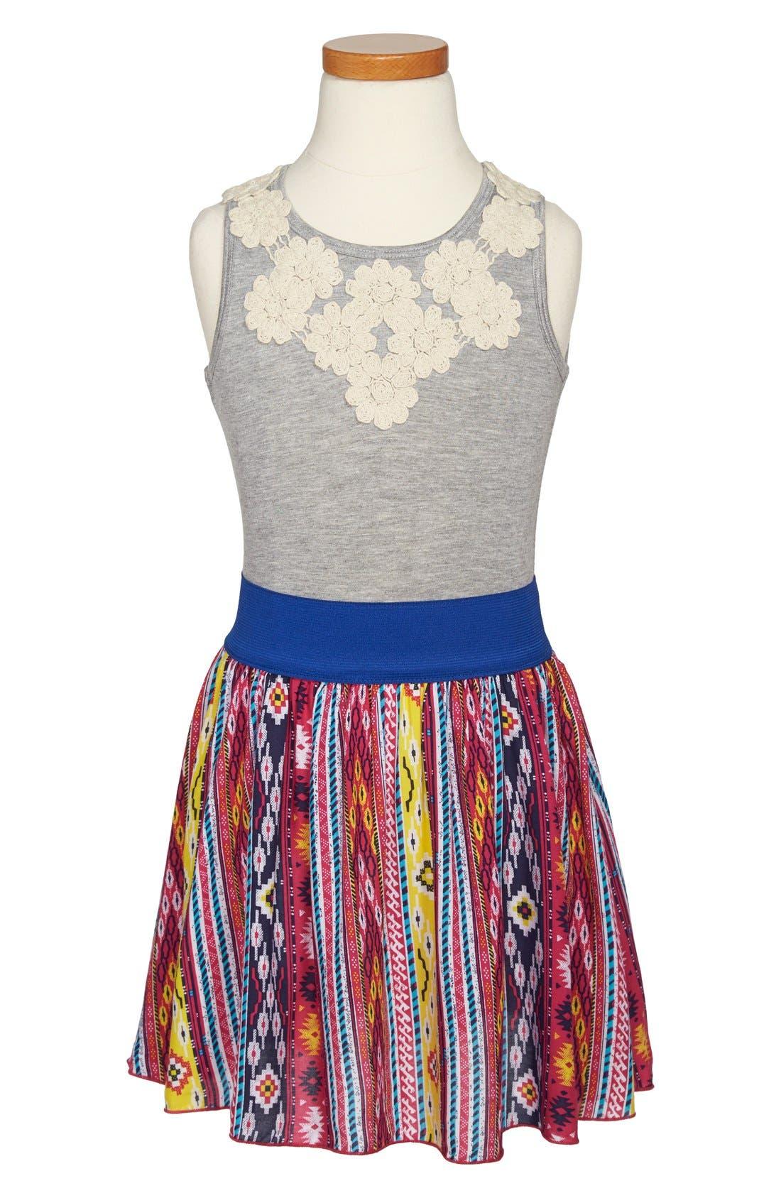 Alternate Image 1 Selected - Twirls & Twigs 'Cluney' Sleeveless Dress (Little Girls & Big Girls)
