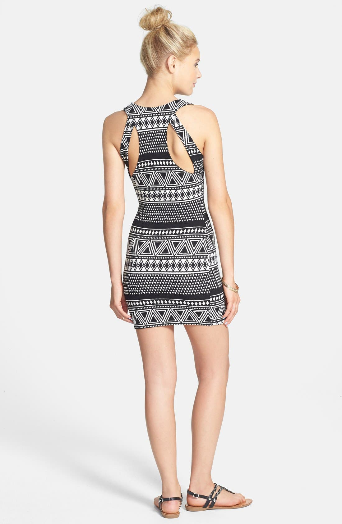 Alternate Image 2  - Elodie Cutout Back Body-Con Dress (Juniors)