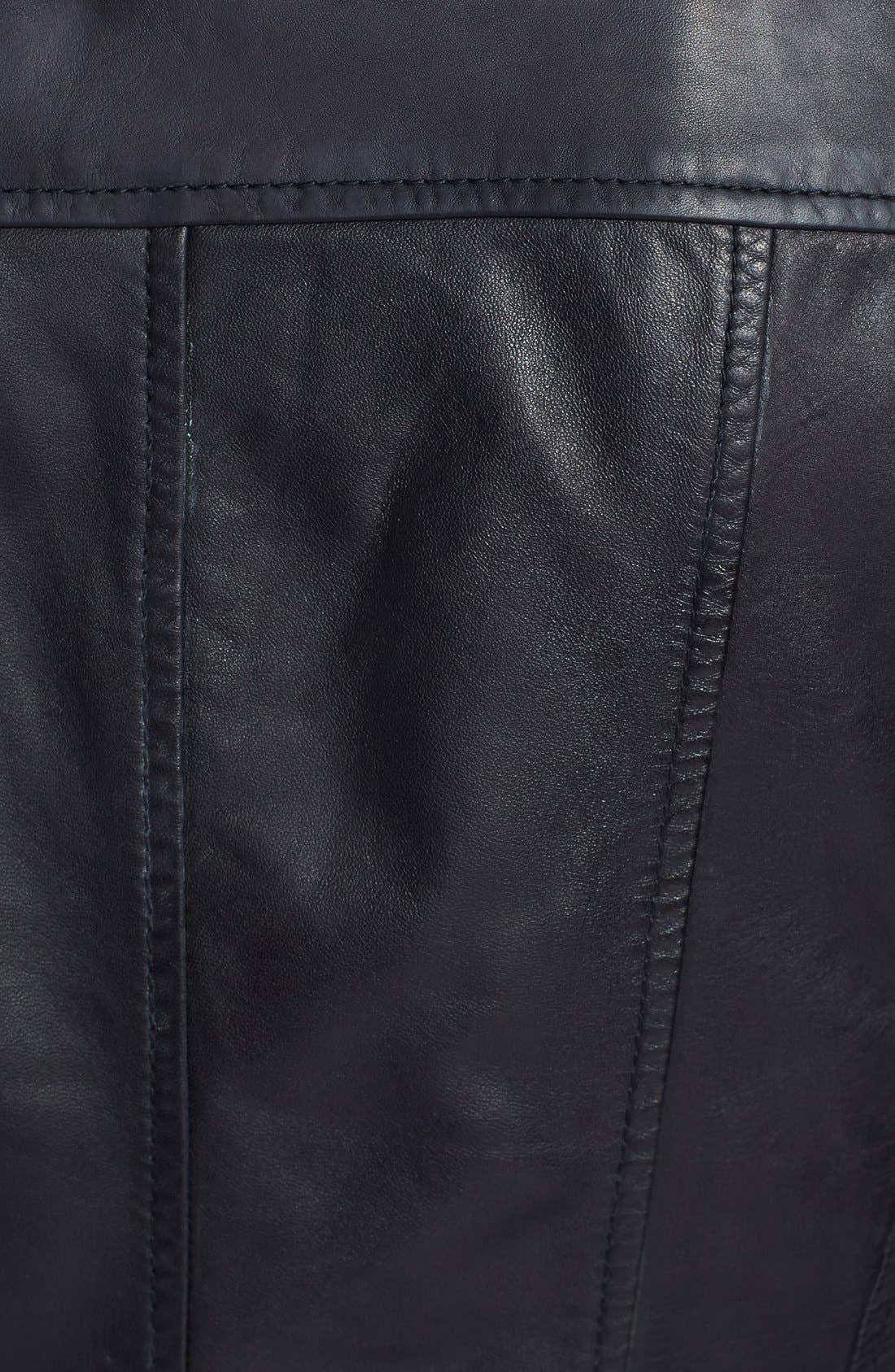 Alternate Image 3  - Bernardo Leather Scuba Jacket (Regular & Petite)