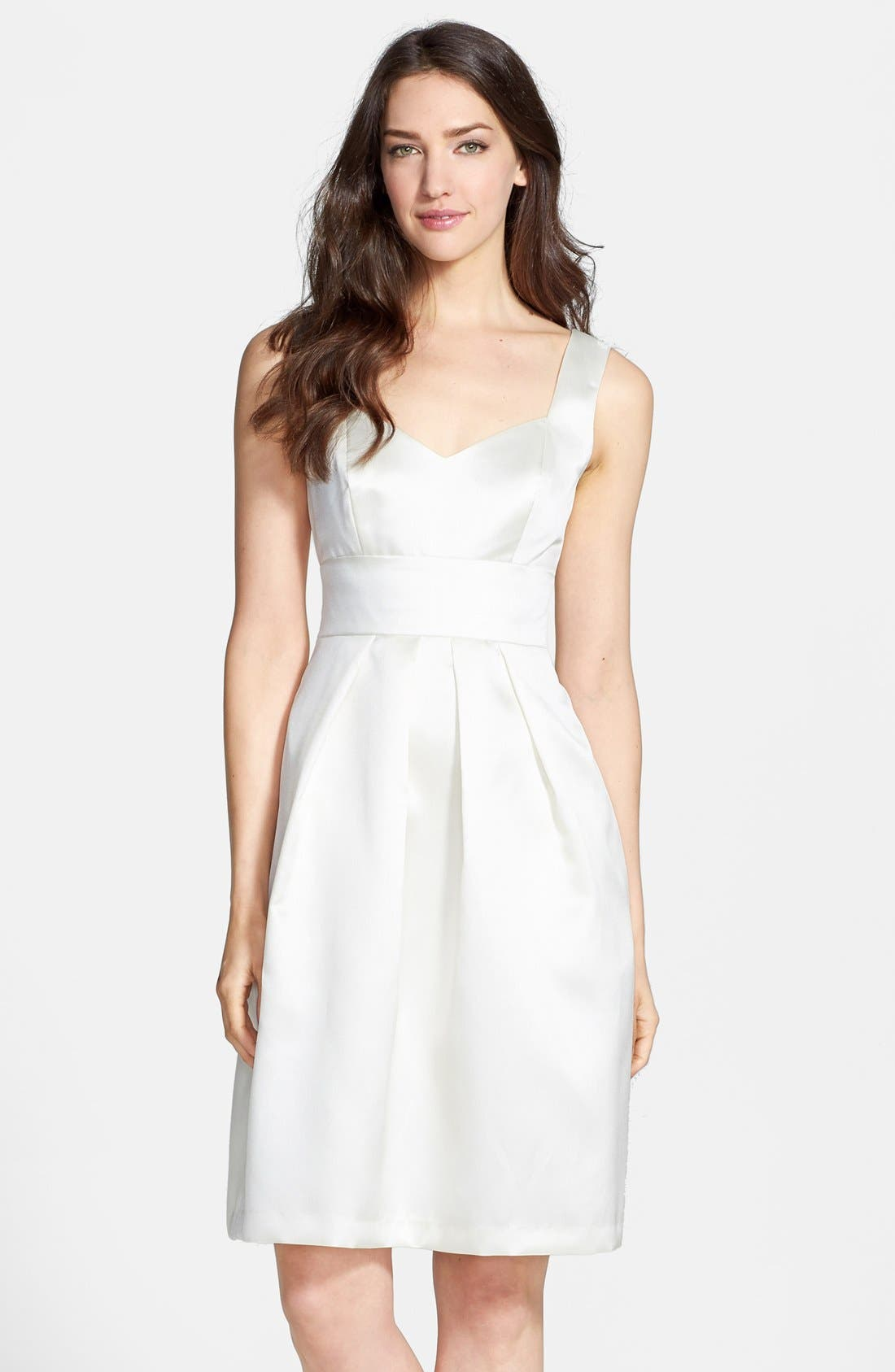 Alternate Image 1 Selected - Alfred Sung Sateen Twill Fit & Flare Dress