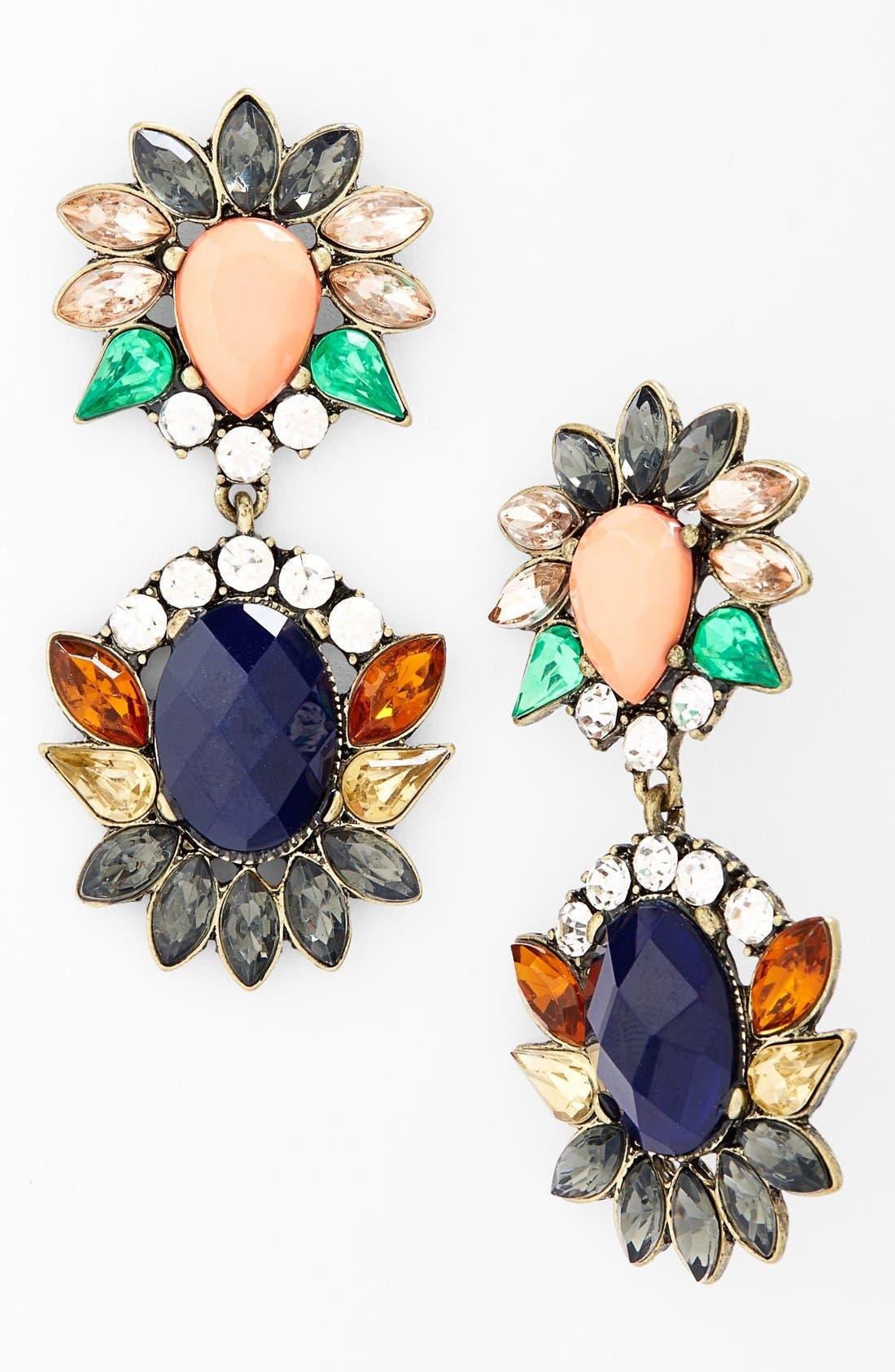 Alternate Image 1 Selected - Cara Multi Jeweled Pendant Earrings