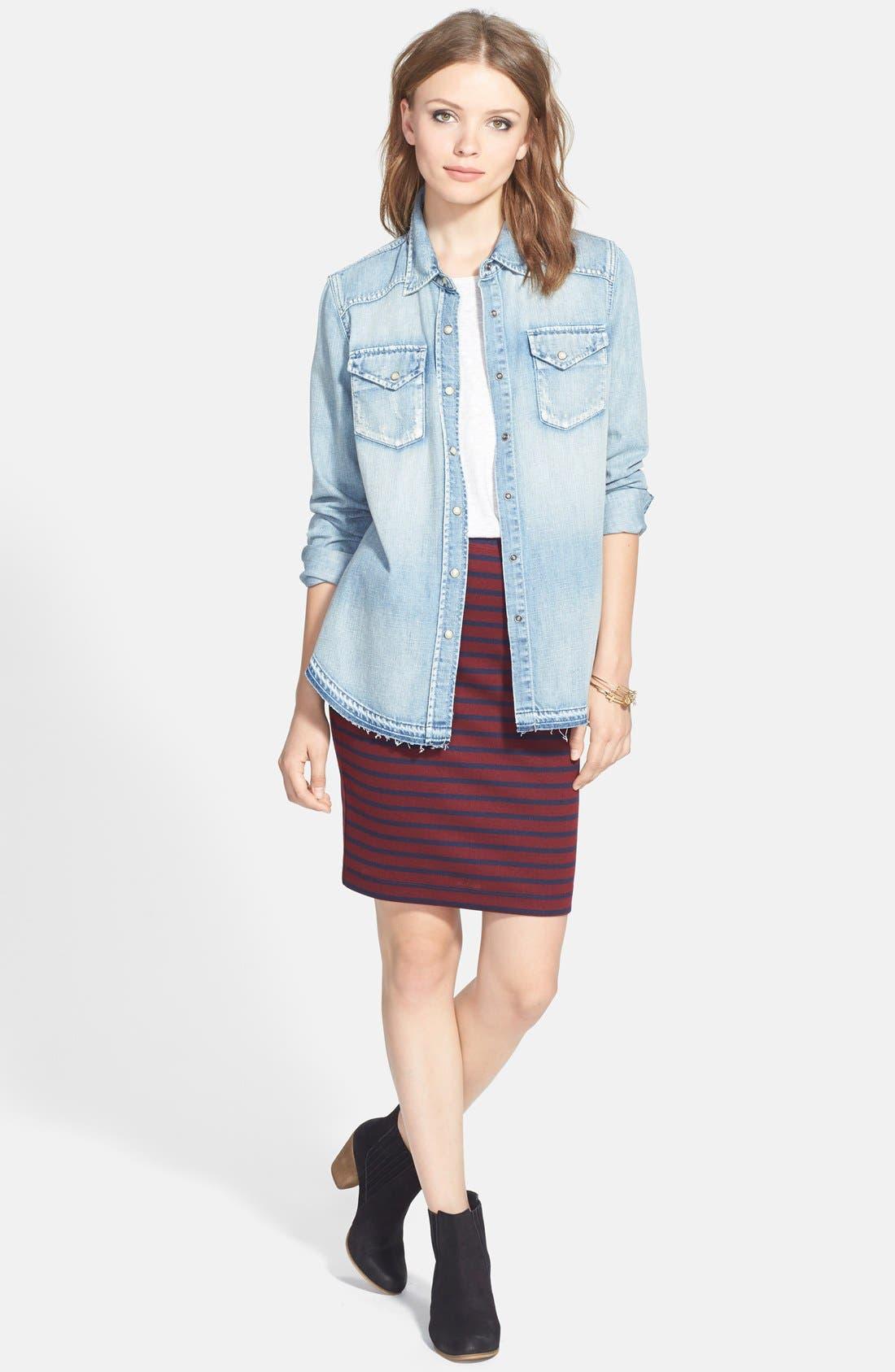 Alternate Image 9  - Ace Delivery Stripe Tube Skirt