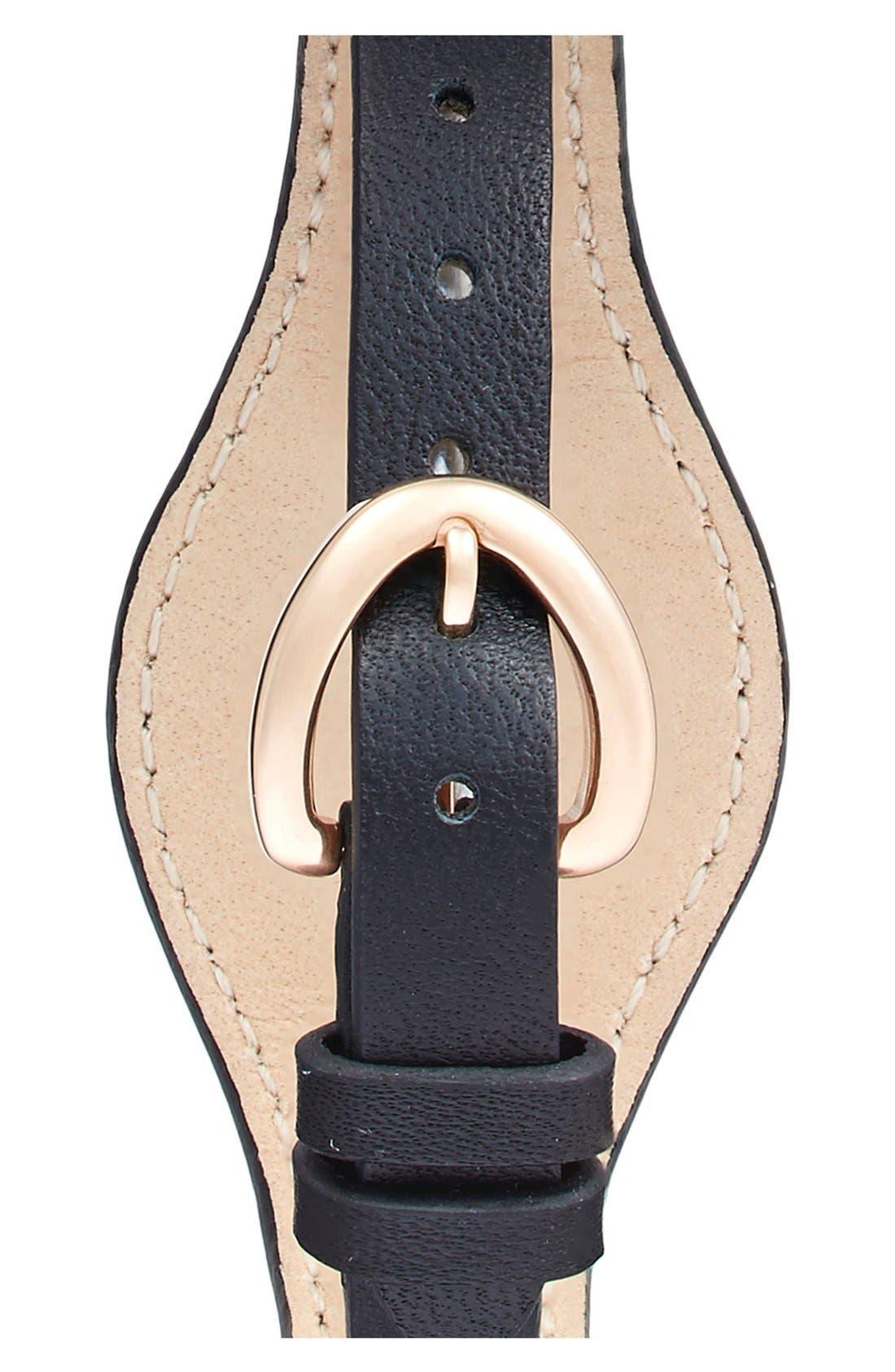 Alternate Image 2  - COACH 'Dree' Leather Cuff Watch, 23mm