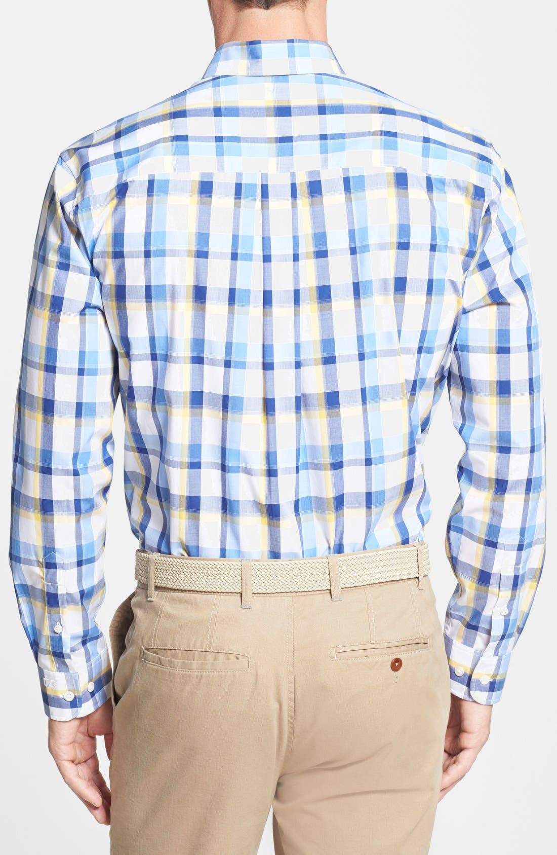Alternate Image 2  - Cutter & Buck 'Pierce' Classic Fit Plaid Poplin Sport Shirt (Big & Tall)