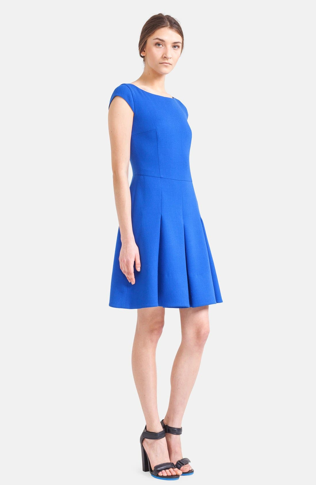 Alternate Image 3  - Akris punto Cap Sleeve Jersey Dress