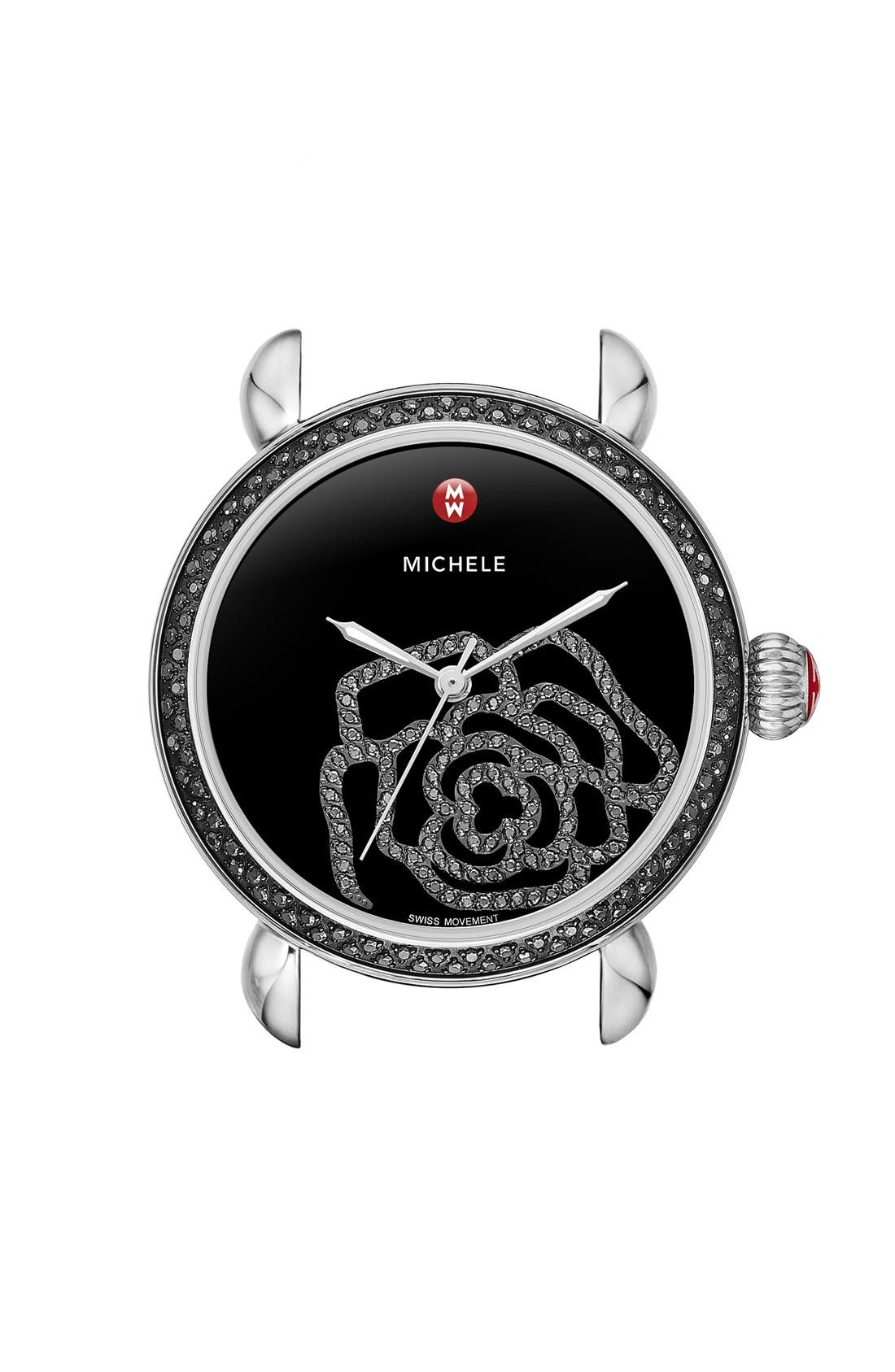 Alternate Image 1 Selected - MICHELE 'CSX Jardin Diamond' Diamond Dial Watch Case, 36mm