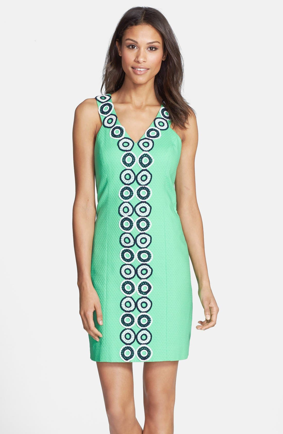 Alternate Image 1 Selected - Lilly Pulitzer® 'Trudy' Lace Trim Jacquard Shift Dress