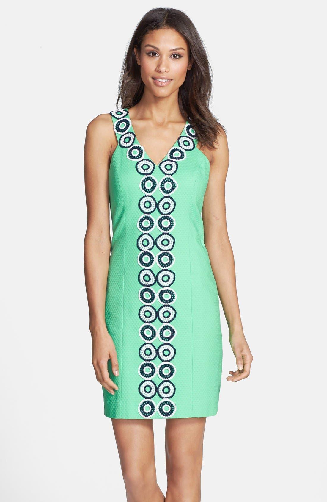Main Image - Lilly Pulitzer® 'Trudy' Lace Trim Jacquard Shift Dress