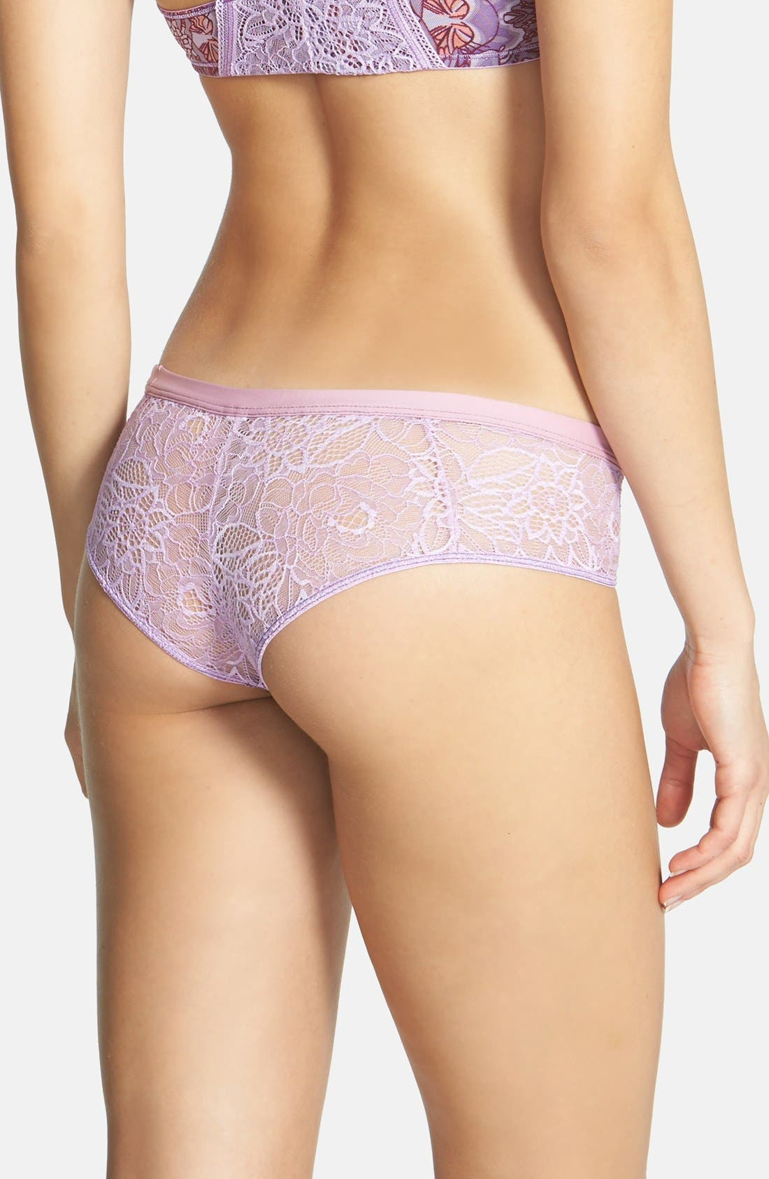Alternate Image 2  - Maaji 'Fluttering Wings' Lace Boyshorts