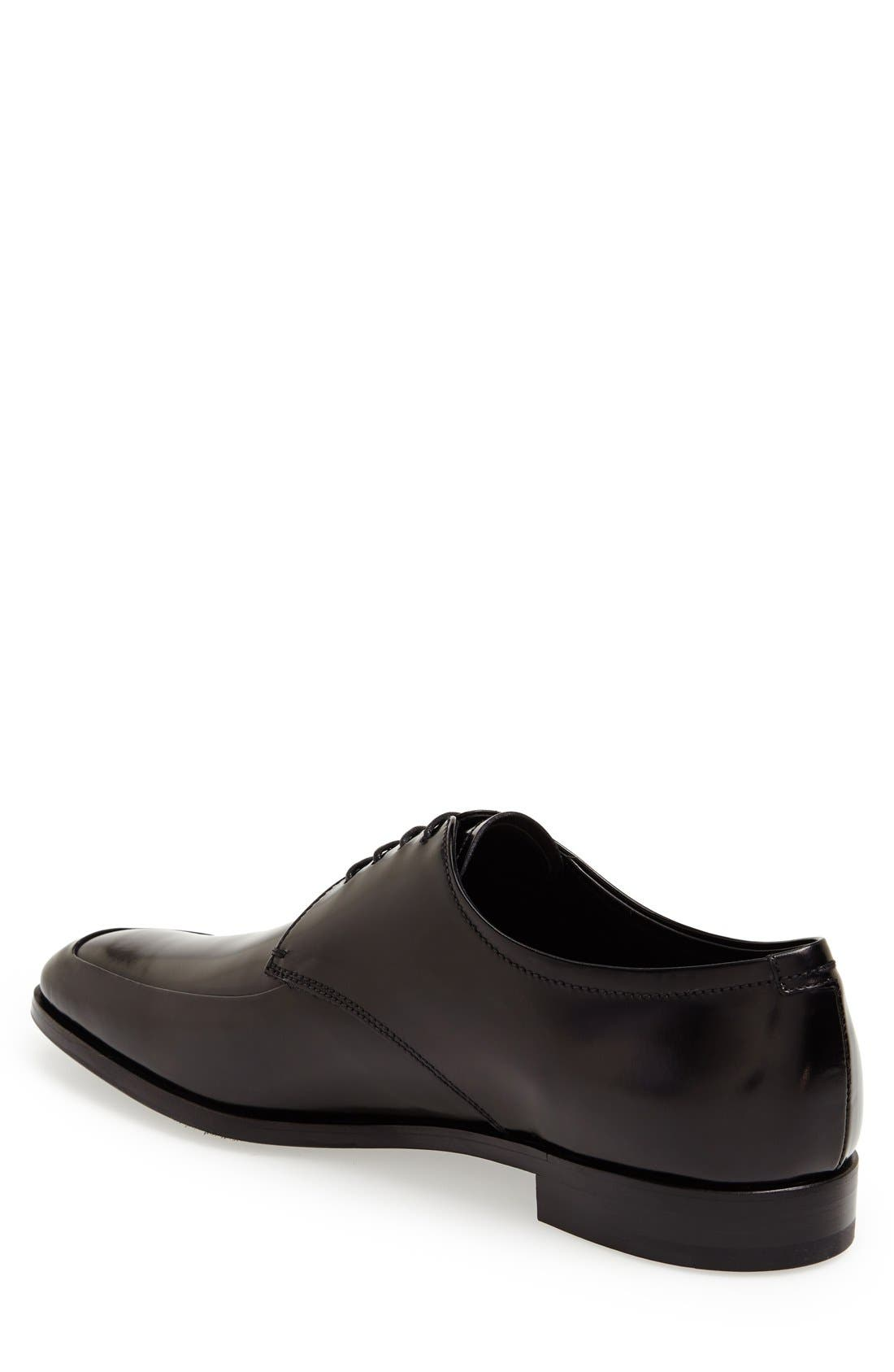 Alternate Image 2  - Prada High Shine Apron Toe Oxford (Men)