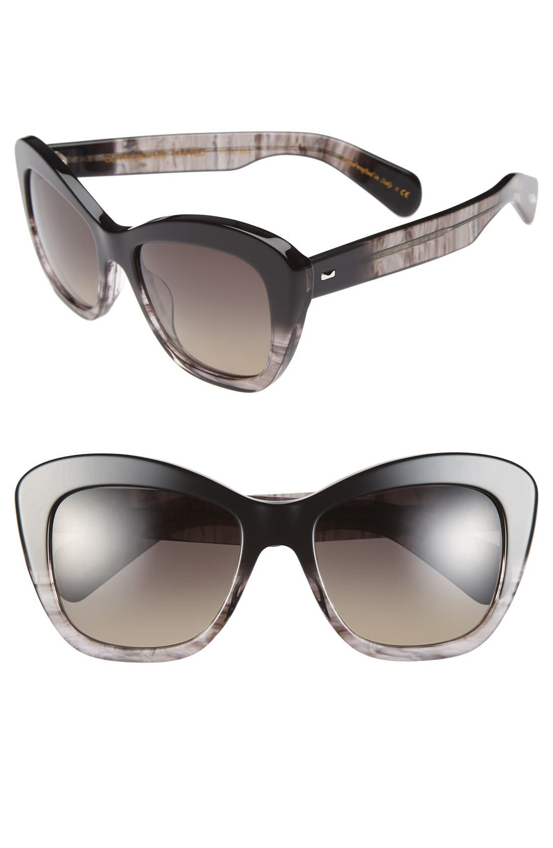 Alternate Image 1 Selected - Oliver Peoples 'Emmy' 55mm Gradient Polarized Sunglasses