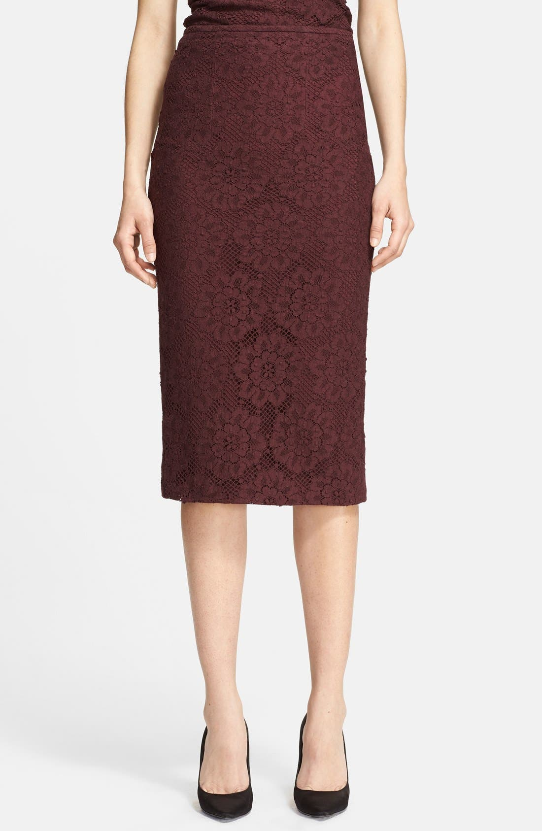 Alternate Image 1 Selected - Burberry London Guipure Lace Pencil Skirt
