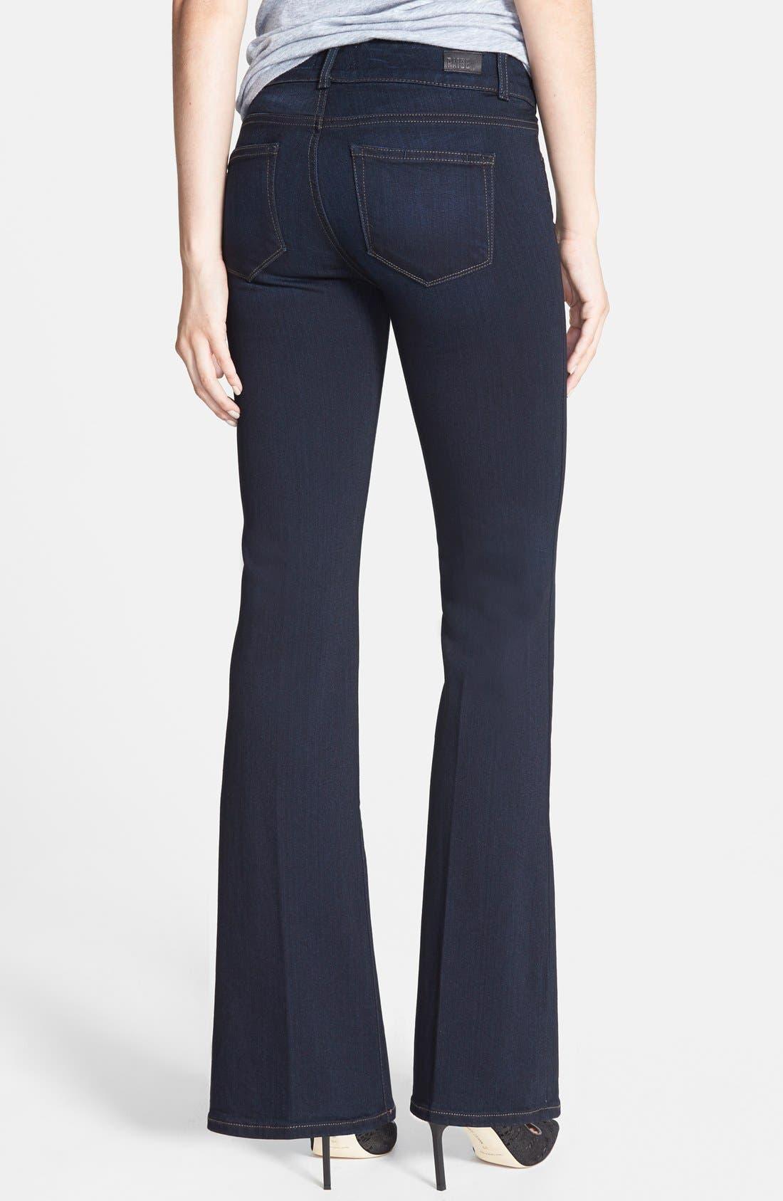 Alternate Image 2  - PAIGE 'Transcend - Hidden Hills' Bootcut Stretch Jeans (Mona) (Petite)