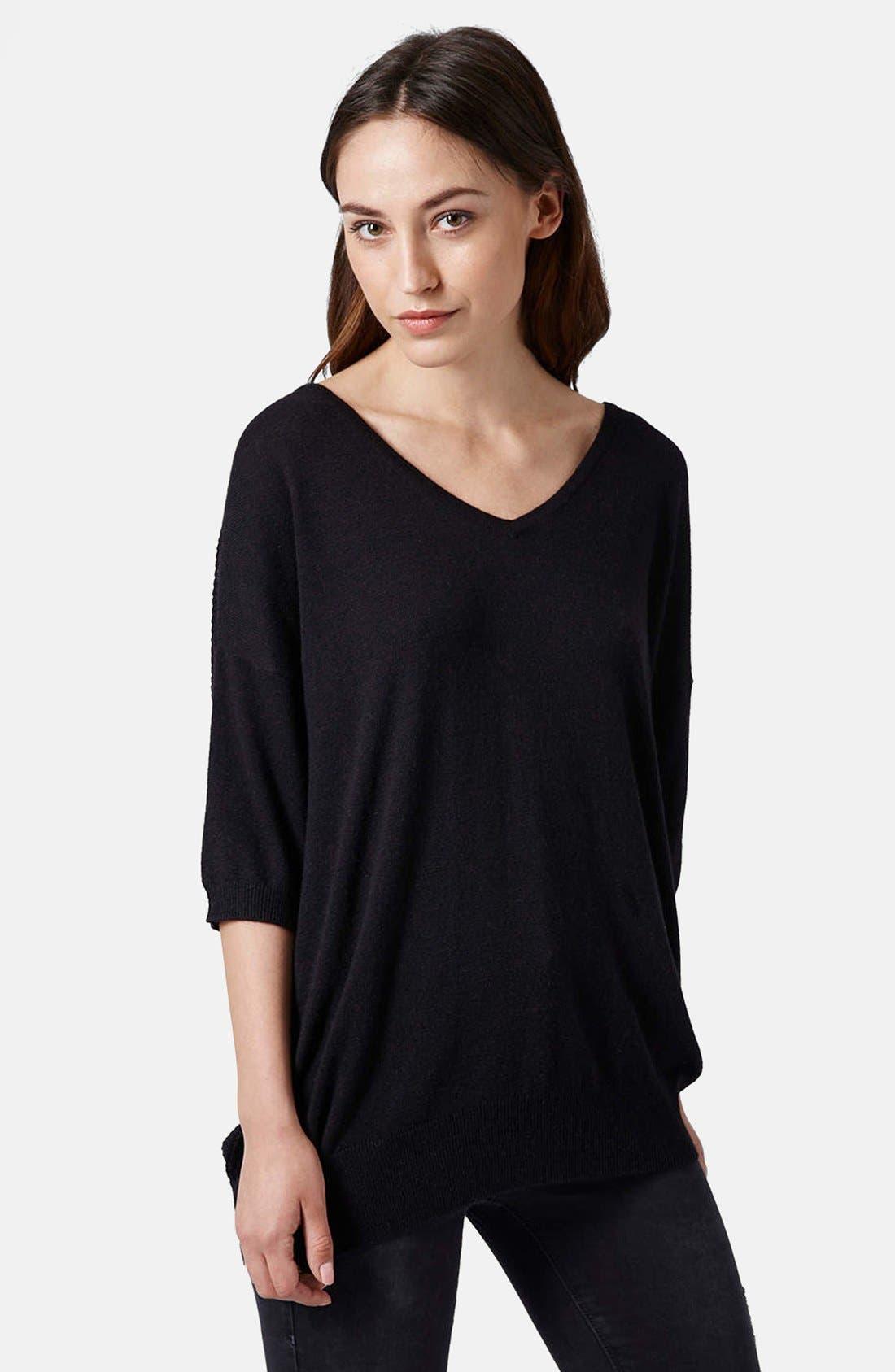 Alternate Image 1 Selected - Topshop Mesh Back Knit Sweater