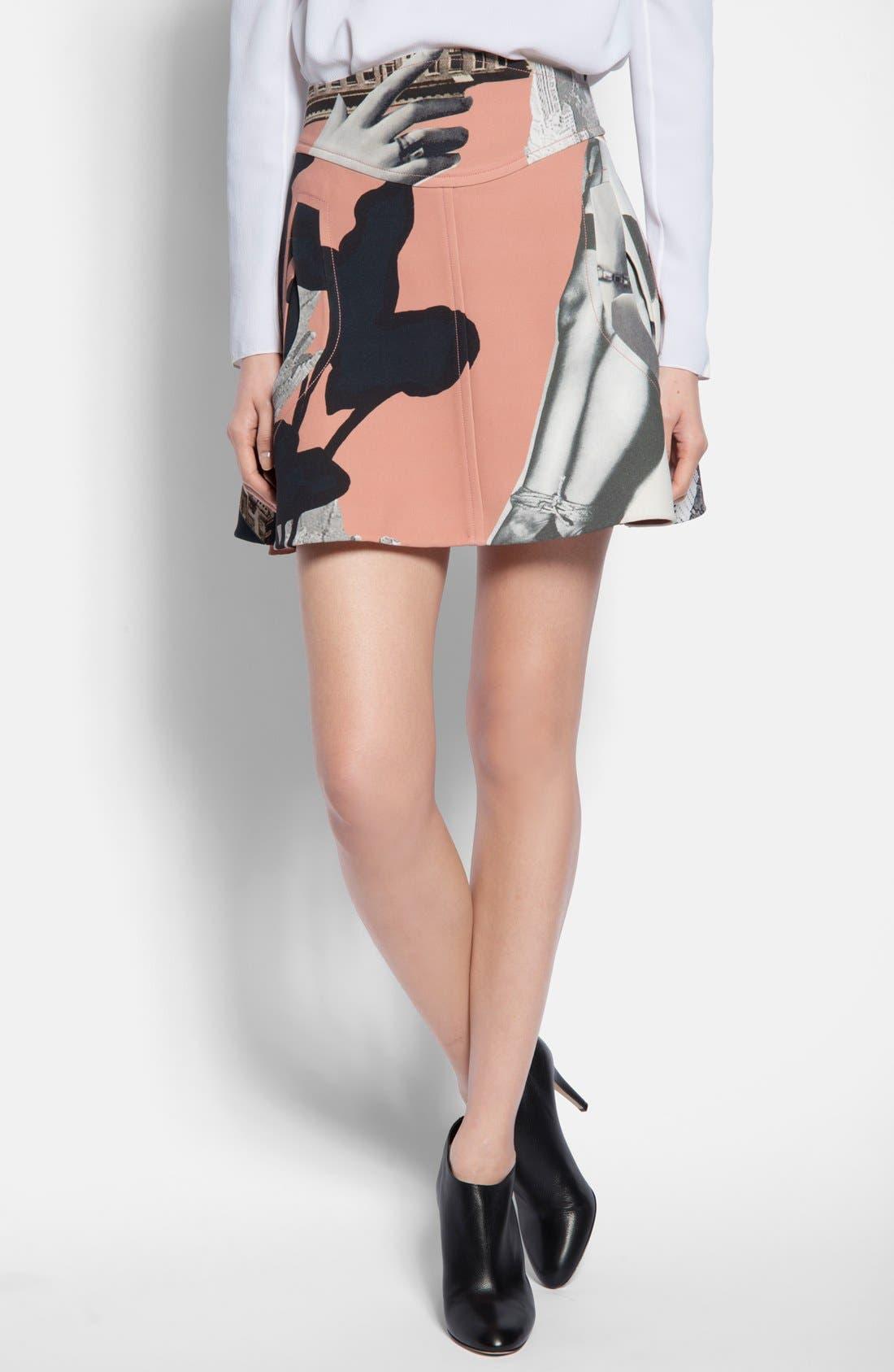 Main Image - Carven Print Flared Skirt